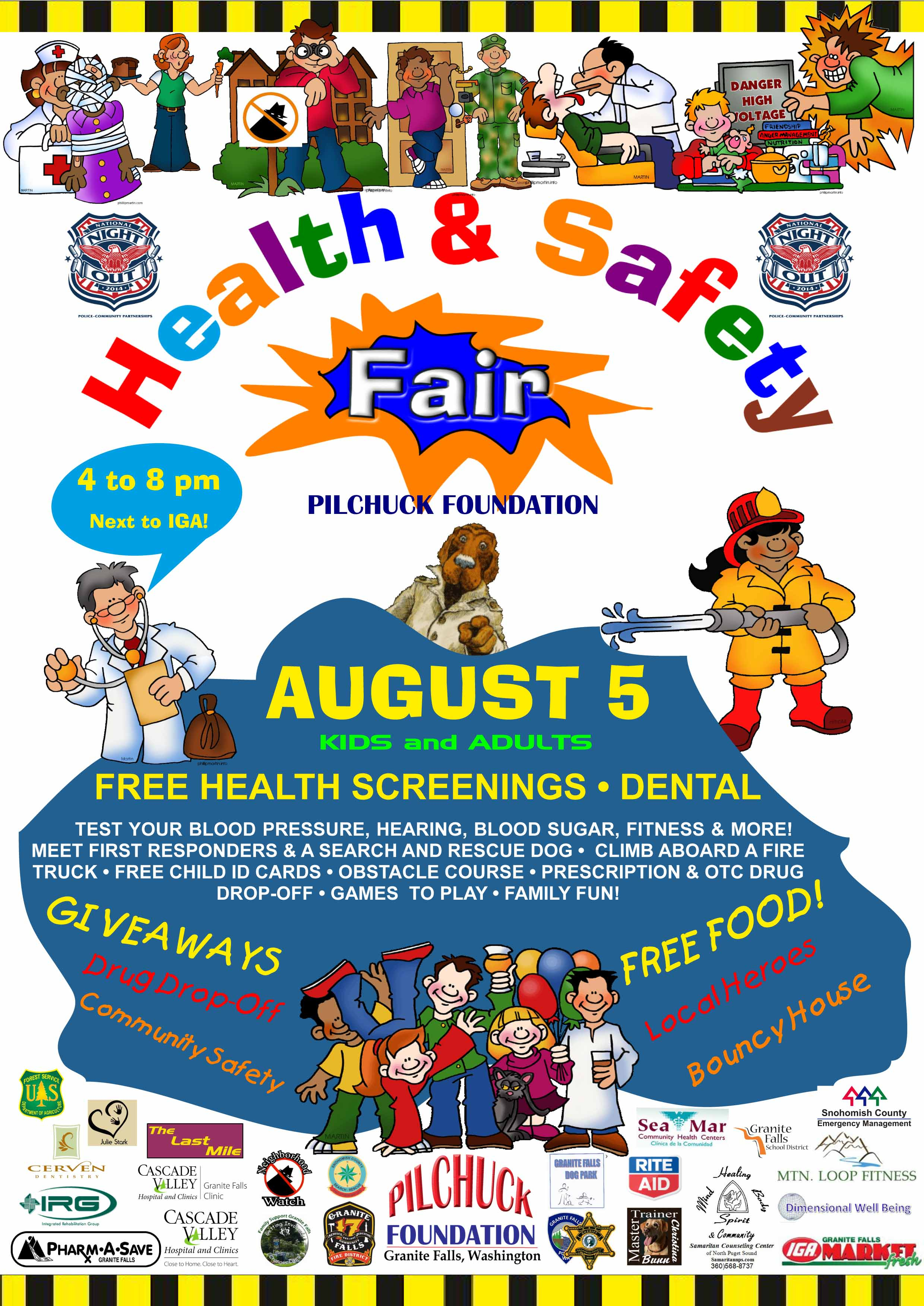 10 Cute Health And Safety Fair Ideas national night out in gf pilchuck foundation 2021