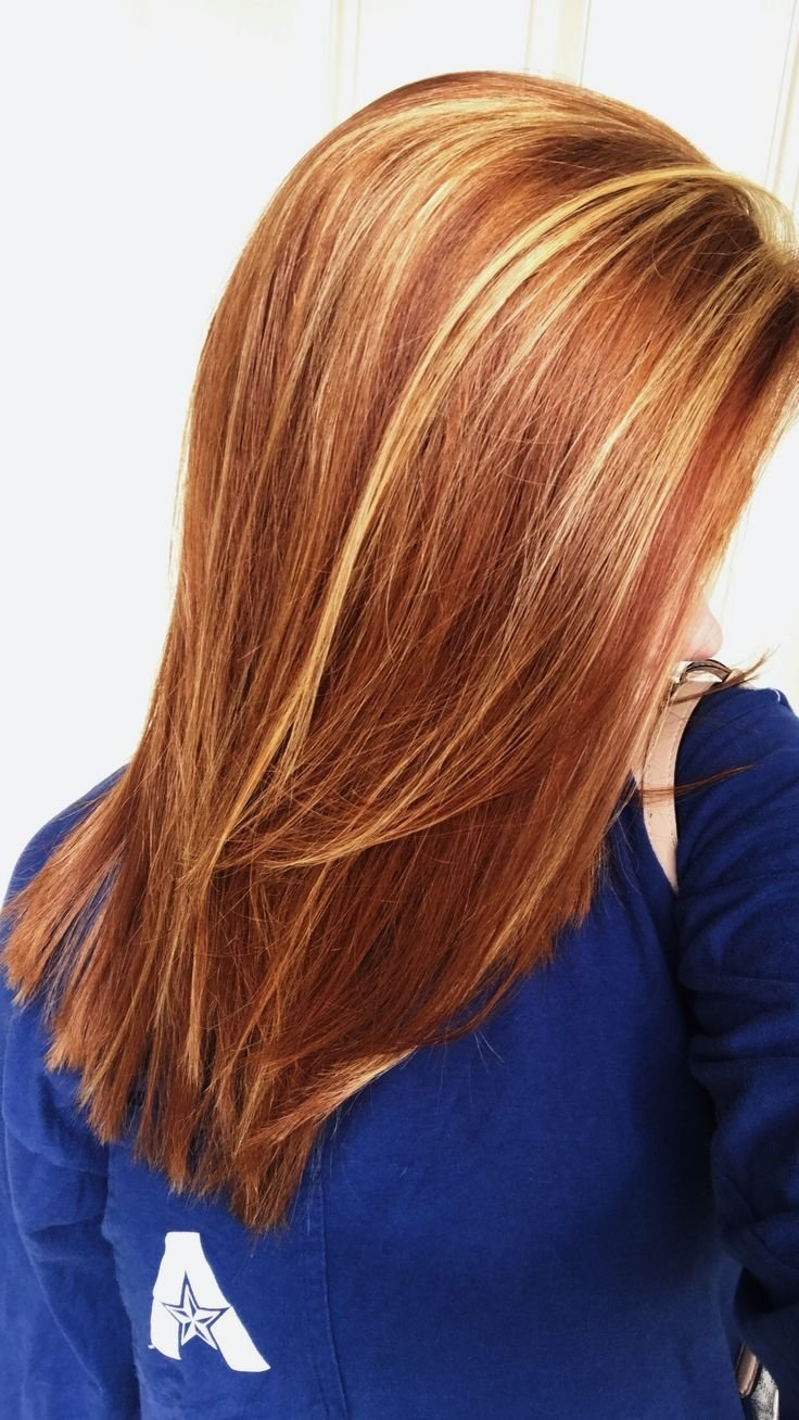 10 Most Recommended Red And Blonde Hair Ideas natural red hair with auburn lowlights blonde highlights medium 1 2020