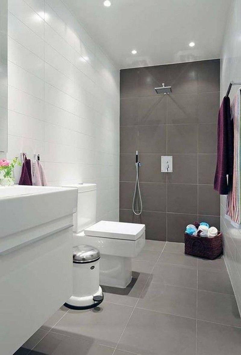 10 Unique Tile Ideas For Small Bathroom natural small bathroom design with large tiles small bathroom tile 2020