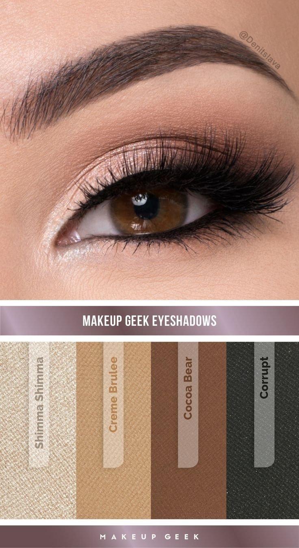 10 Perfect Prom Makeup Ideas For Brown Eyes natural smokey eye look by denitslava m using makeup geek