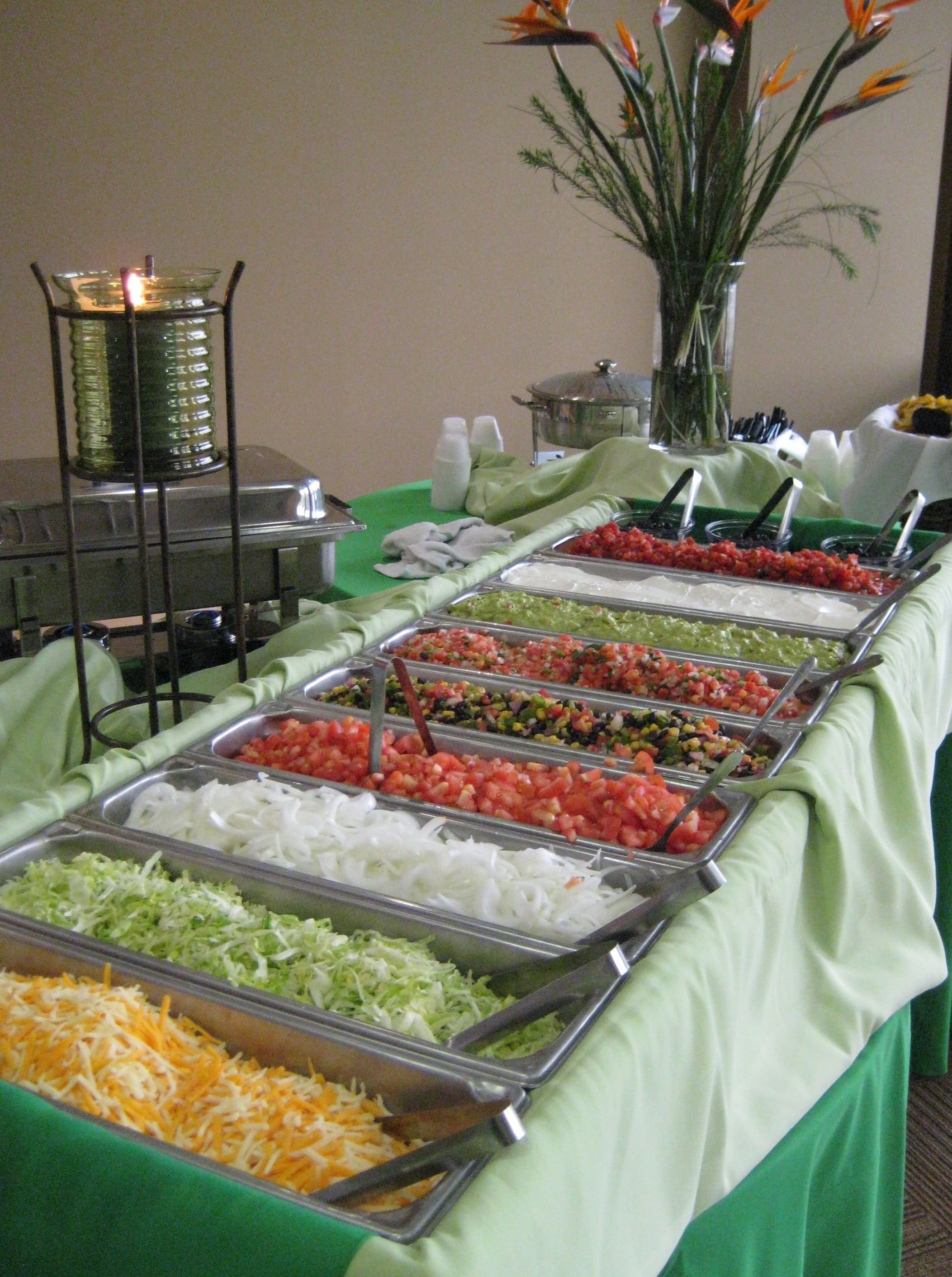 10 Awesome Graduation Open House Food Ideas neat ideataco bar for the reception easy affordable yummy 2020