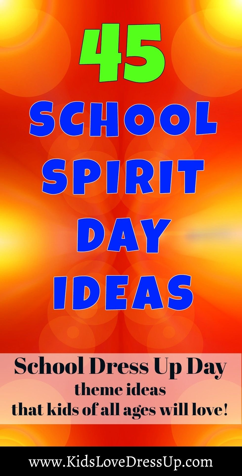 10 Gorgeous Spirit Days Ideas For High School need some new school spirit day ideas for your preschool elementary 2021