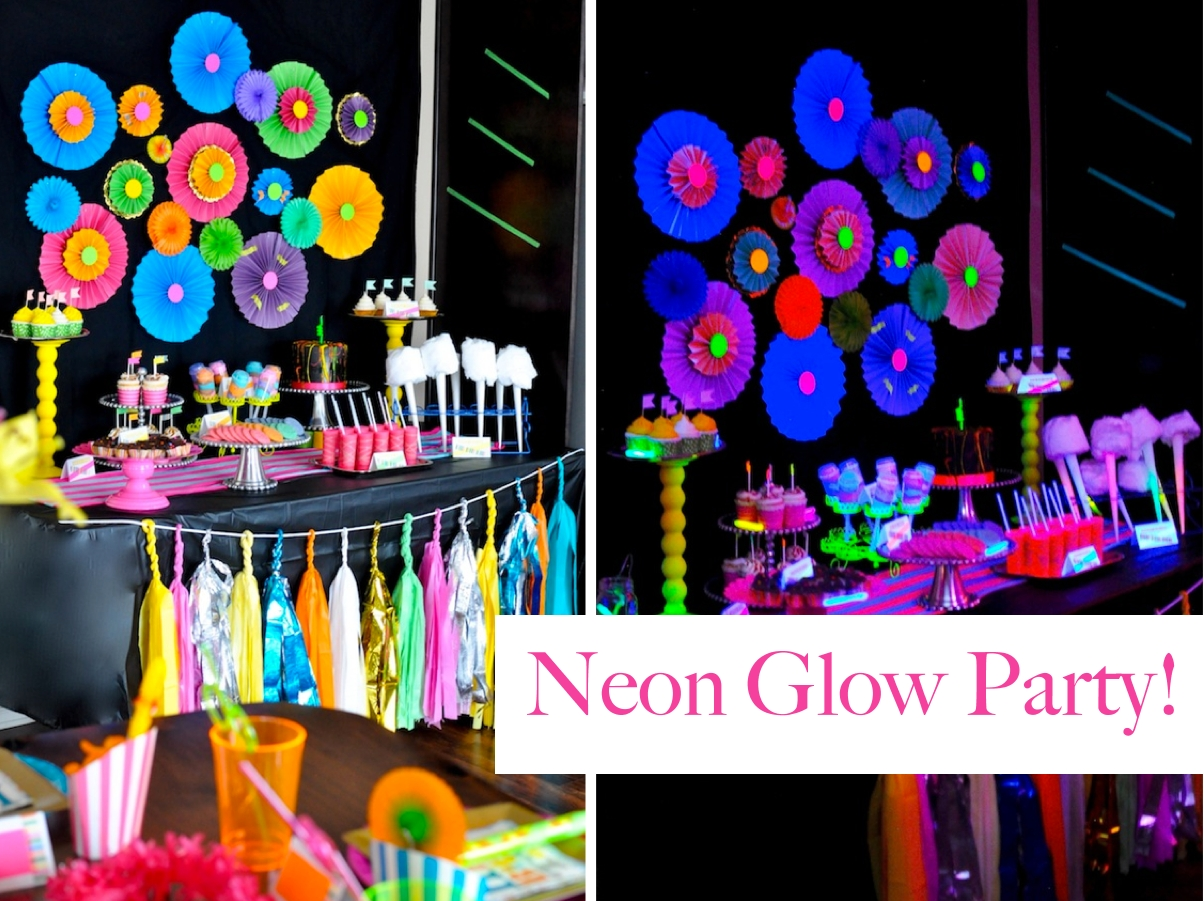 10 Unique Ideas For Teenage Birthday Parties neon glow in the dark teen birthday party dance girl decor ideas 1 2020