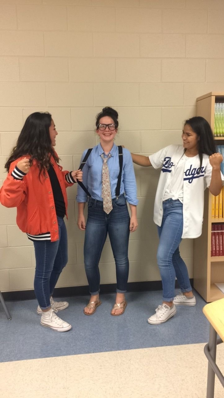 nerd vs. jock day with ashton and alex. day one of spirit week