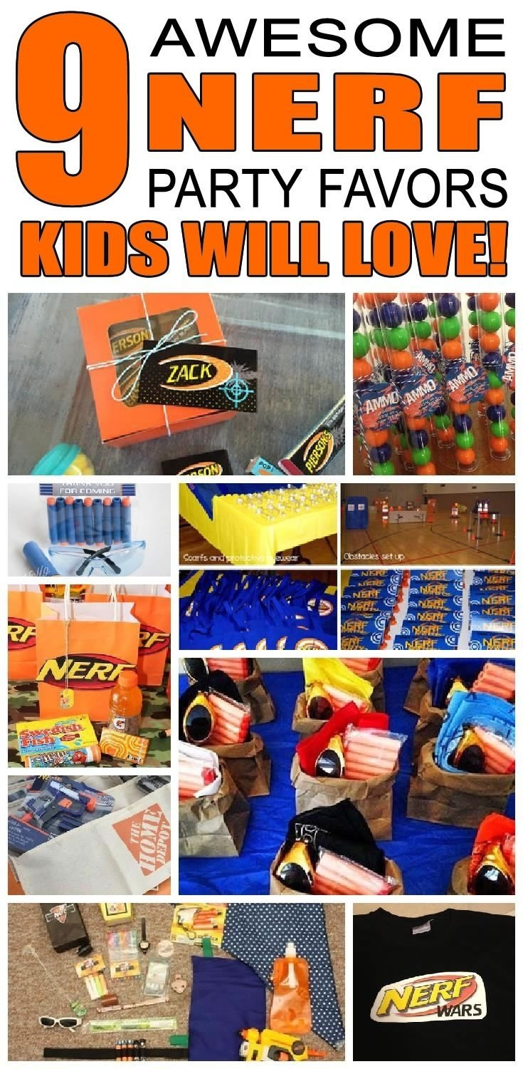 10 Lovable Party Favor Ideas For Boys nerf party favor ideas nerf birthday party nerf party and party 2020