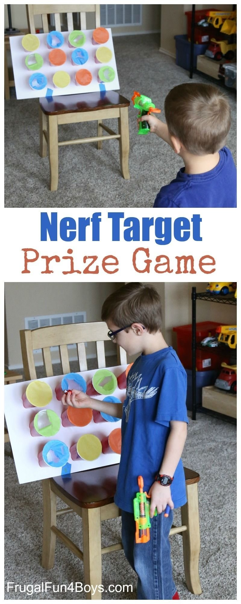 10 Fashionable Fun Game Ideas For Kids nerf target prize game fun party games party games and target 3 2020