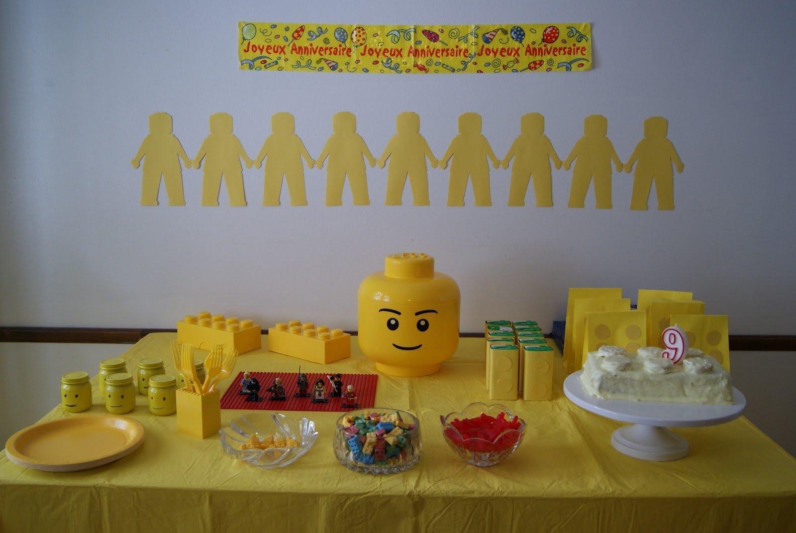 nest full of eggs: yellow lego birthday
