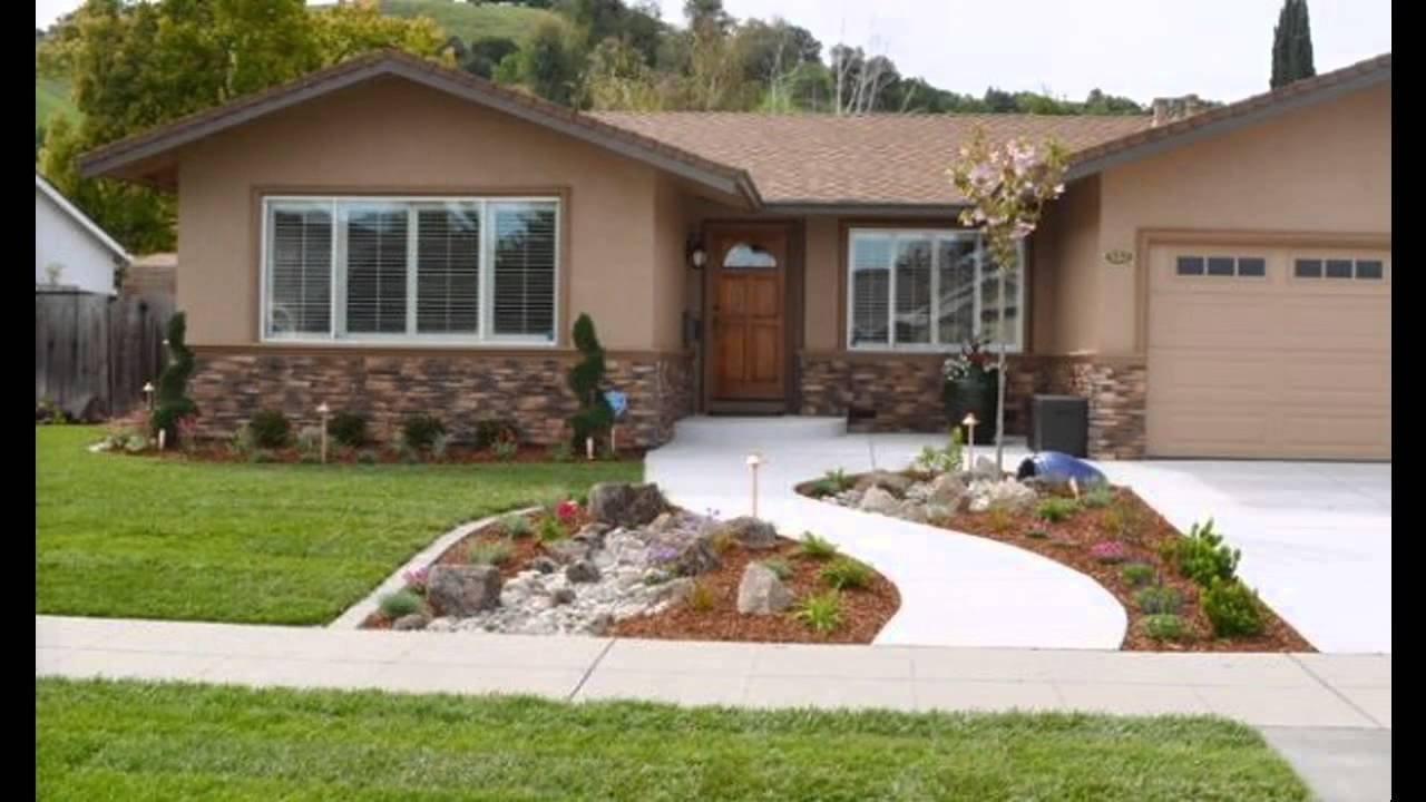 10 Attractive Simple Front Yard Landscaping Ideas Pictures %name