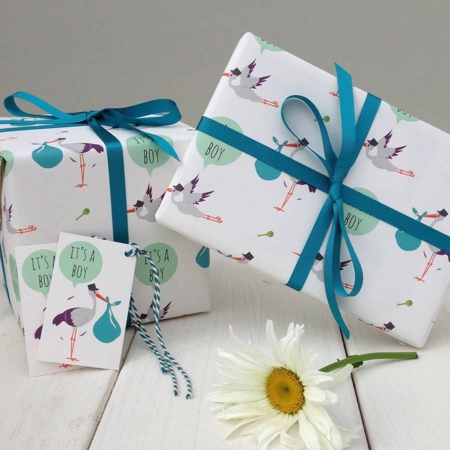 10 Gorgeous Gift Ideas For Little Boys new baby boy gift wrapthe little blue owl notonthehighstreet 2020