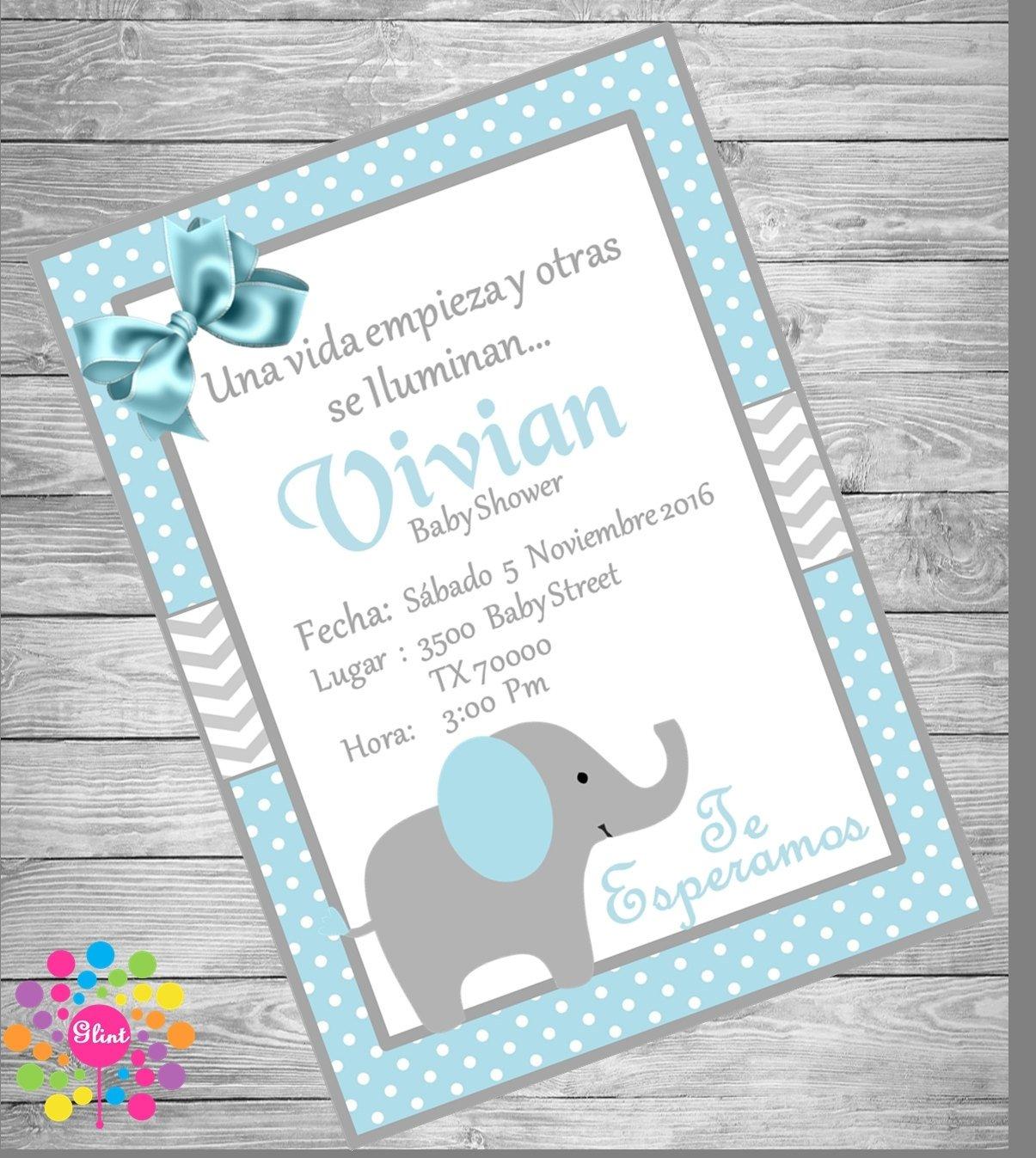 10 Attractive Ideas Para Invitaciones De Baby Shower new blue elephant baby shower invitation babies babyshower 2021