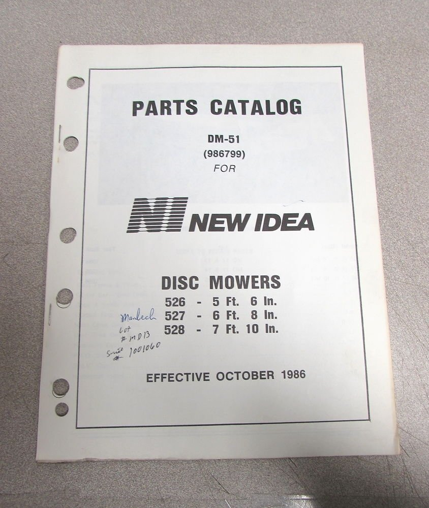 10 Most Recommended New Idea Disc Mower Parts new idea 526 527 528 disc mowers parts catalog manual 1986 dm 51 2020