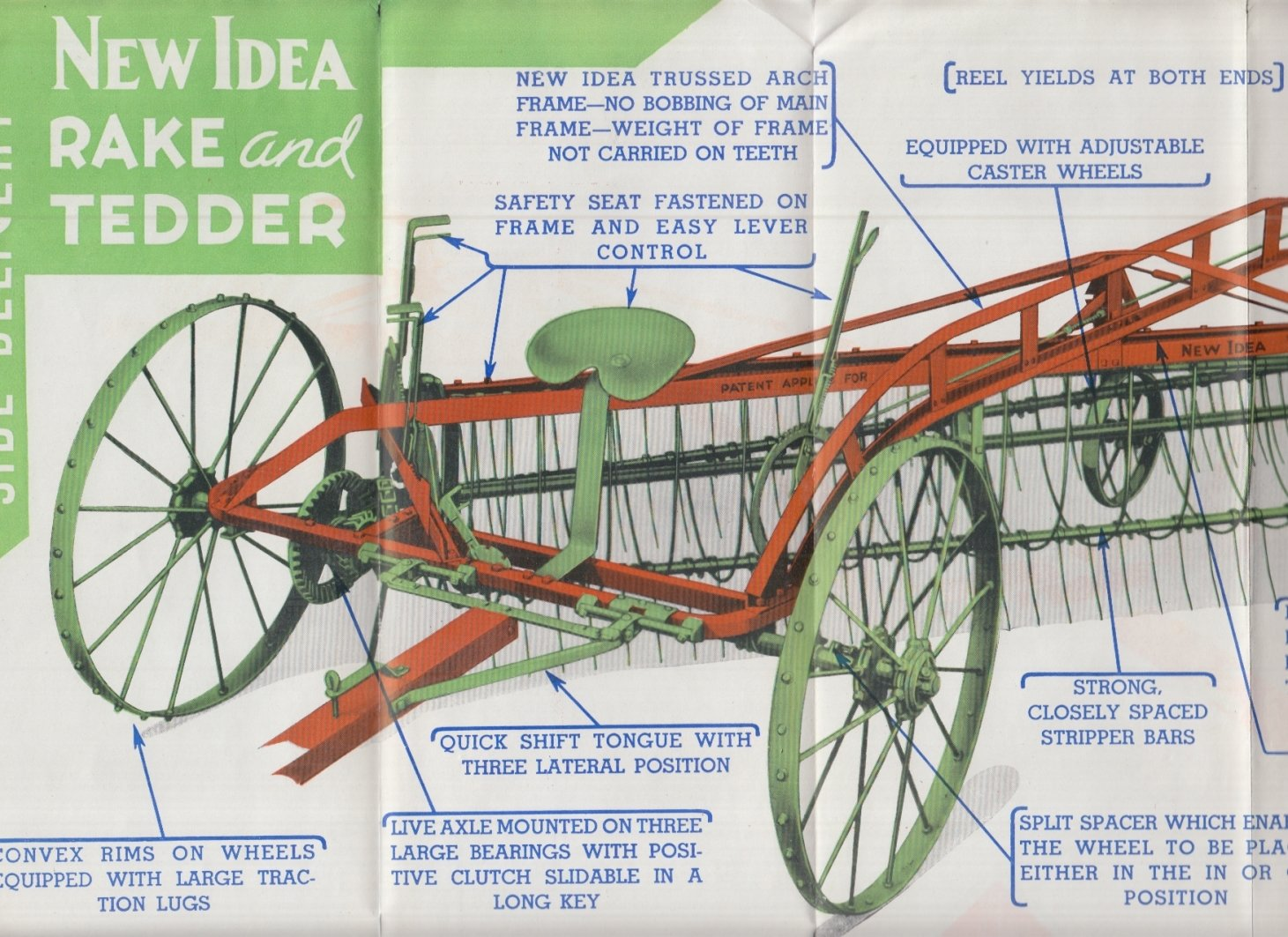 10 Great New Idea Hay Rake Parts new idea side delivery rake tedder sales folder 1940 2020