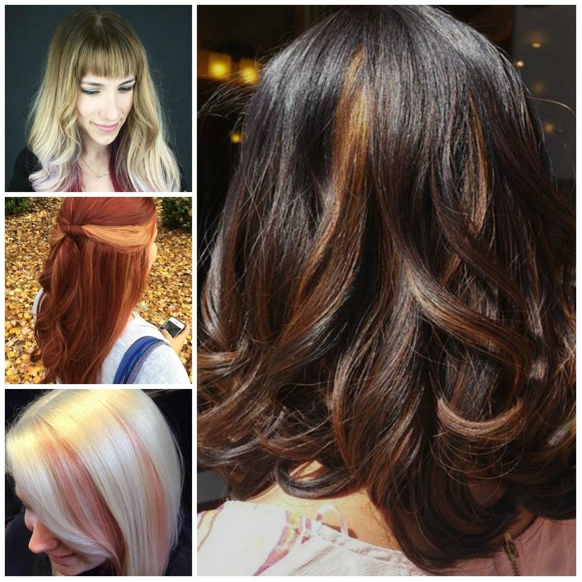 new ideas for peek-a-boo highlights for 2017 | new hair color