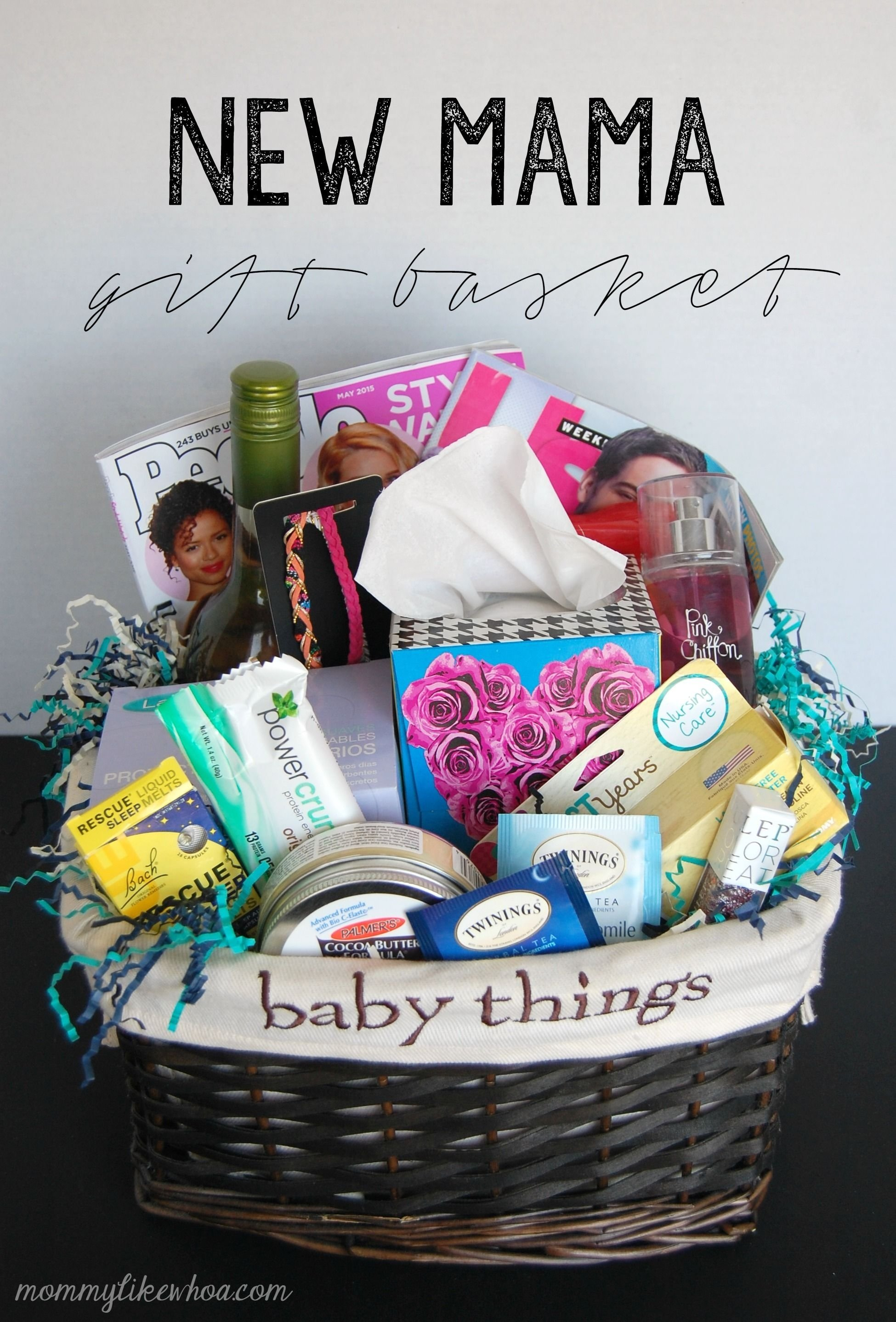 10 Amazing Gift Ideas For New Moms new mama gift basket ads gift and babies 1