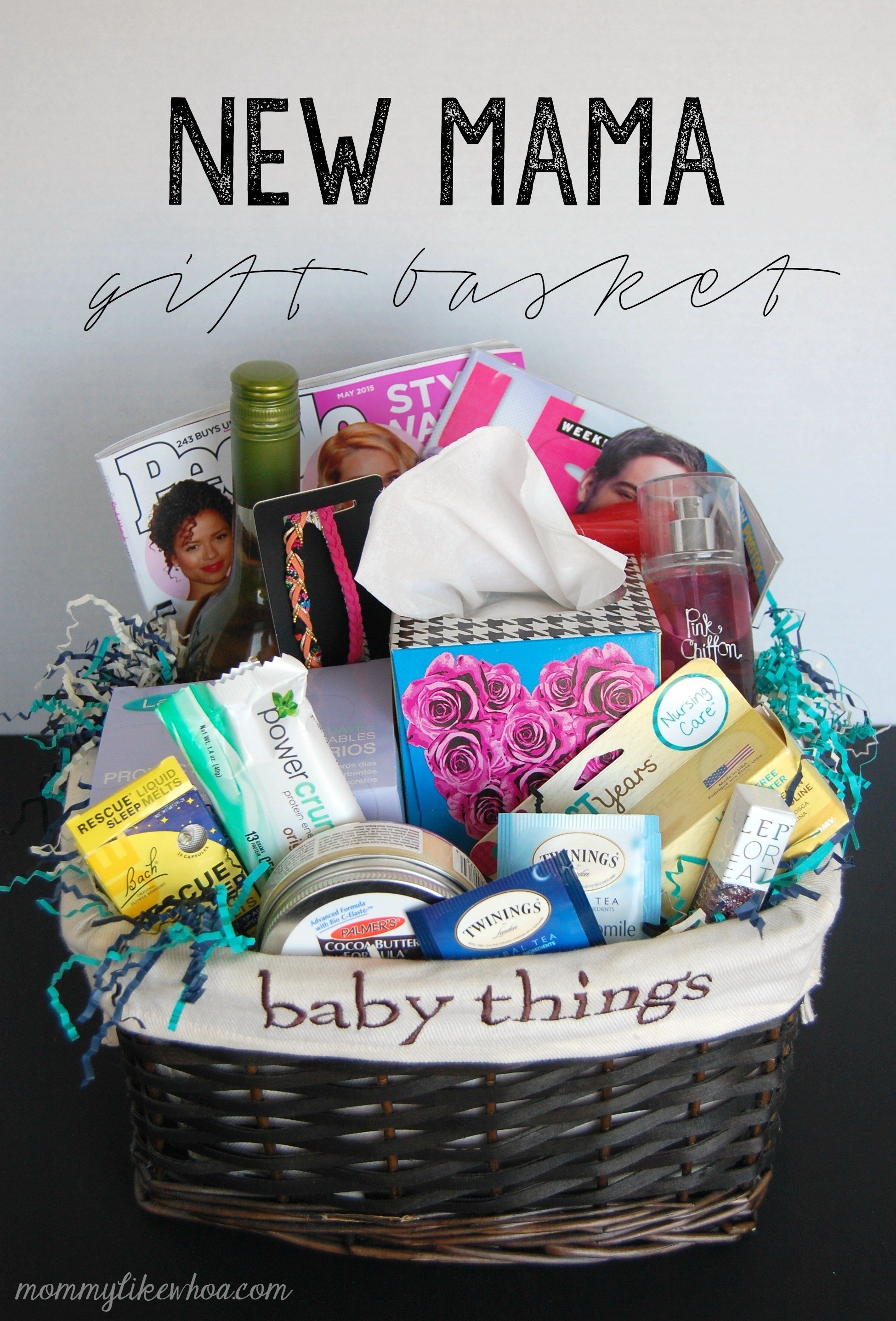 new mama gift basket - mommy like whoa