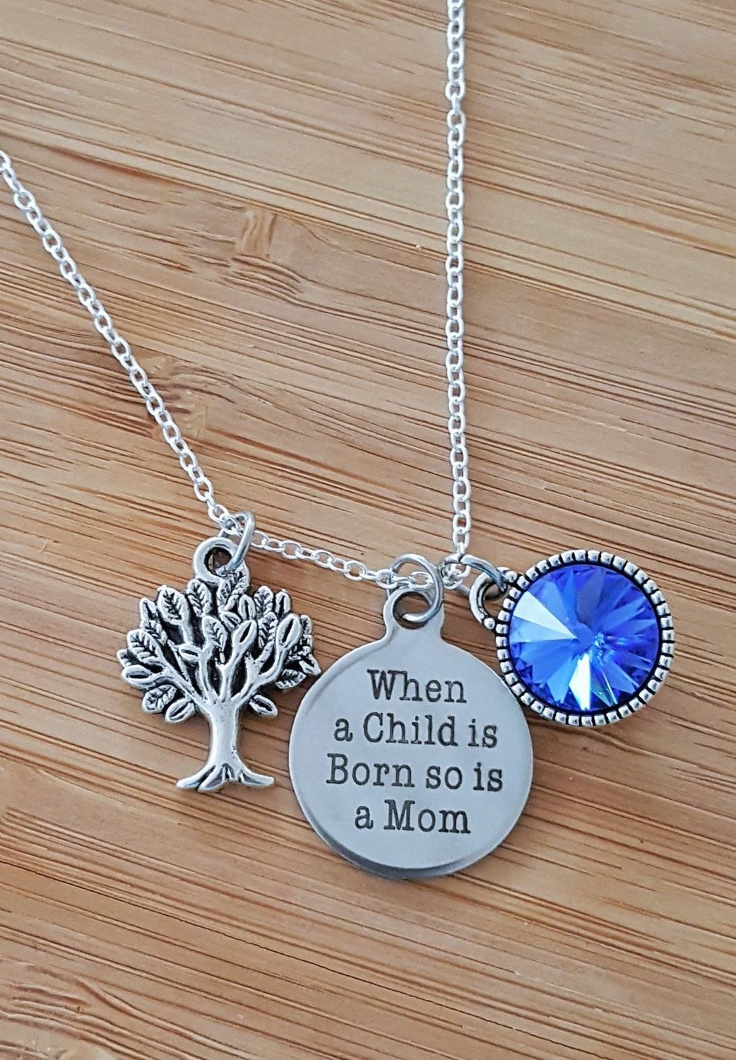 10 Awesome Push Gift Ideas For Wife new mom necklace new mom gift new mom push present new mommy gifts 1 2020