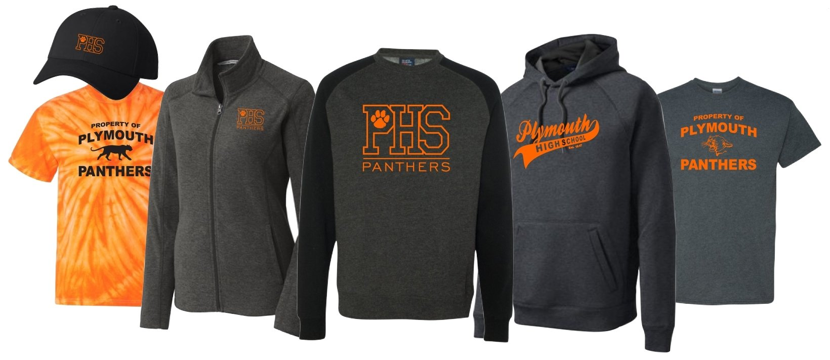 new spirit wear designs - plymouth school district