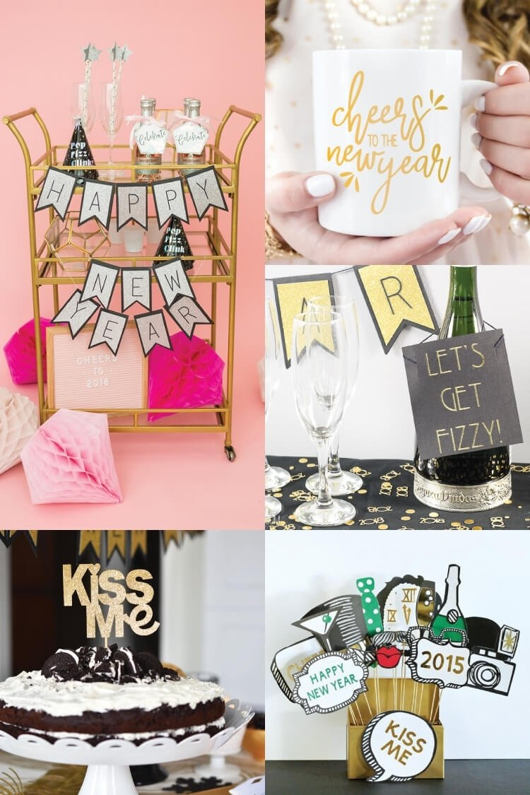 10 Fantastic Fun New Years Eve Ideas new years eve party ideas with the cricut hey lets make stuff 2020