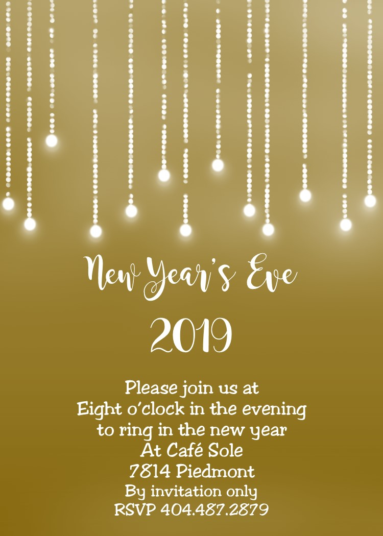 10 Elegant New Years Eve Invitation Ideas new years eve party invitations 2019 1 2020