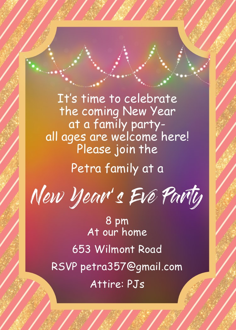 10 Elegant New Years Eve Invitation Ideas new years eve party invitations 2019 3 2020