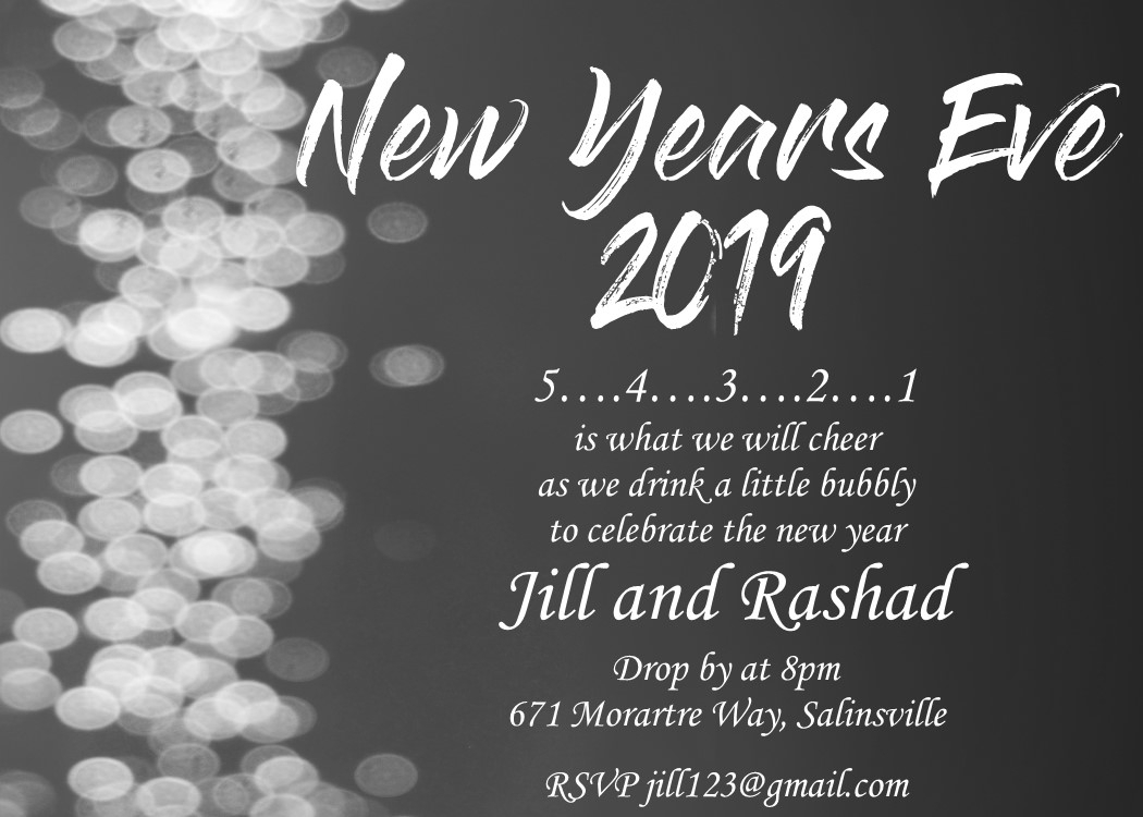 10 Elegant New Years Eve Invitation Ideas new years eve party invitations 2019 2020