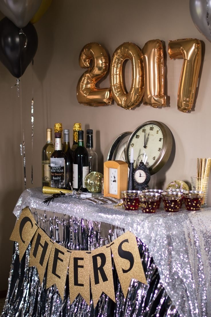 10 Lovable New Years Eve Theme Party Ideas new years eve party with shindigz champagne decoration and bar 2 2021