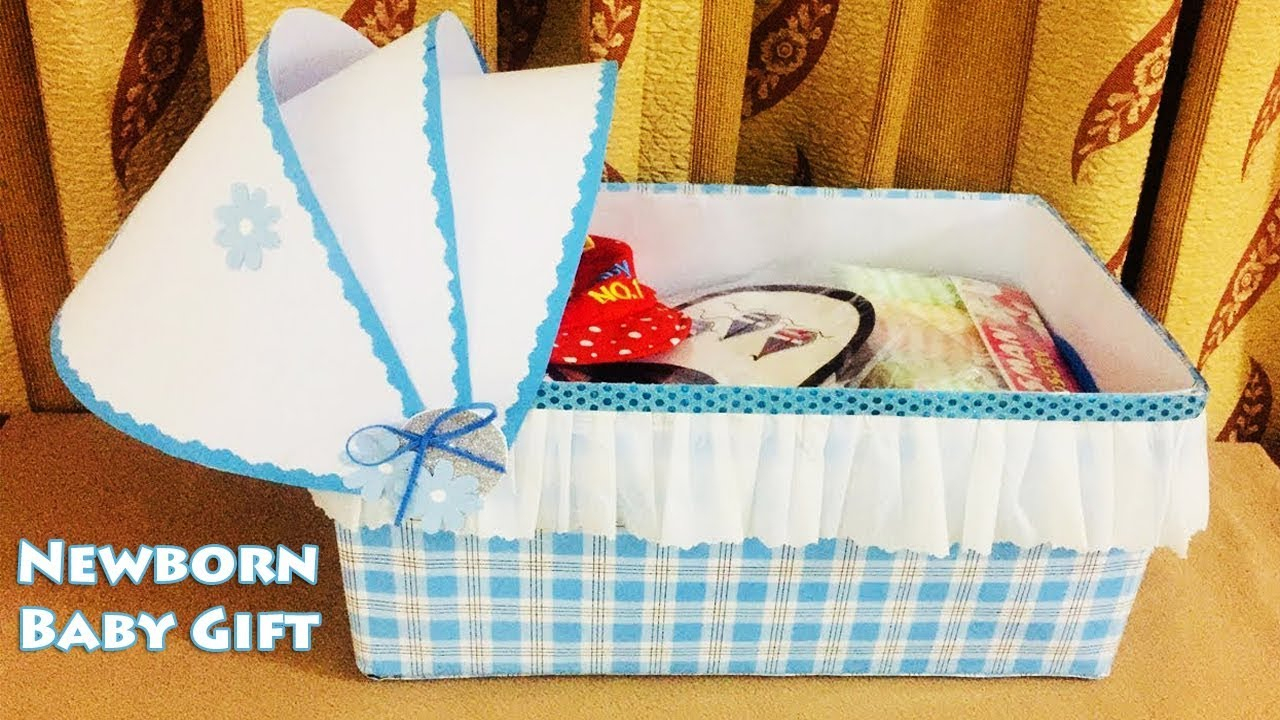 10 Unique New Born Baby Gift Ideas newborn baby gift ideas gifts for babies best out of waste box 1