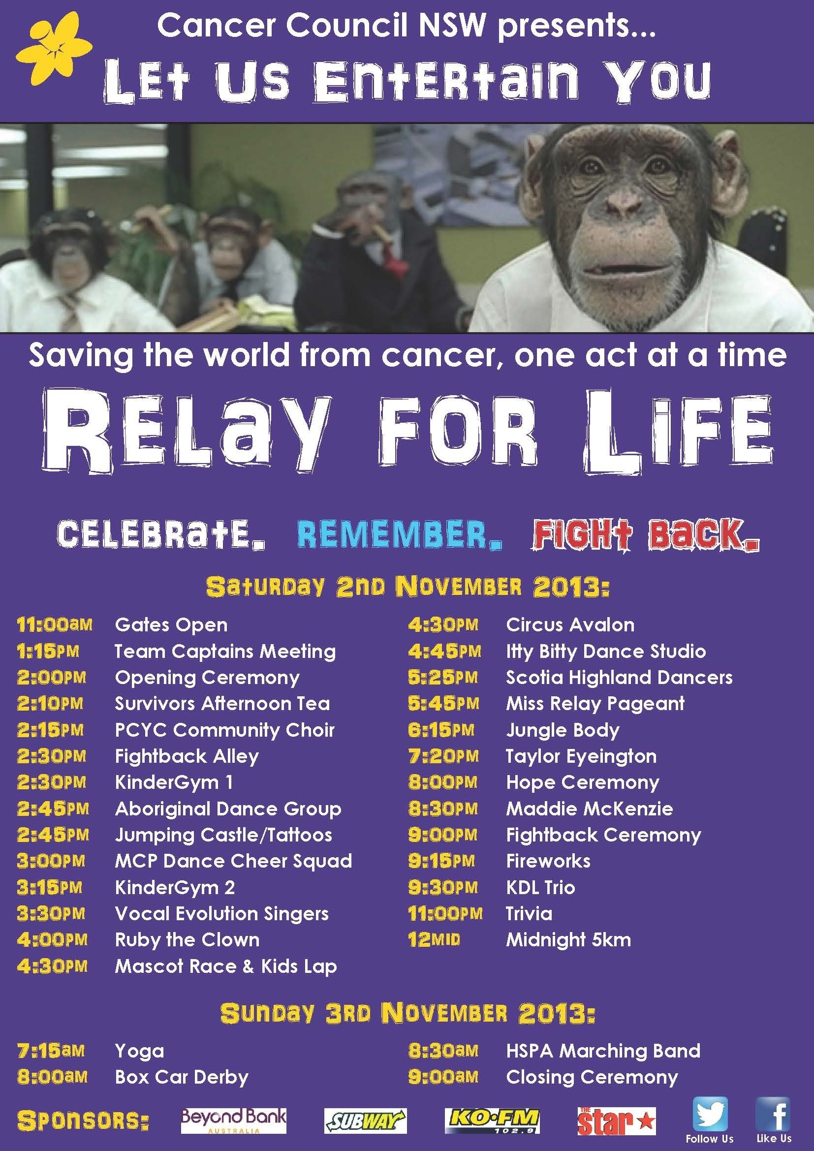 10 Spectacular Relay For Life Lap Ideas newcastle lake macquarie relay for life 2013 let us entertain you