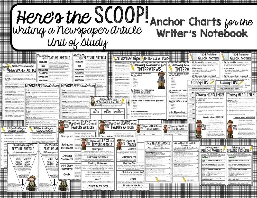 newspaper article writing unit {here's the scoop!} | newspaper
