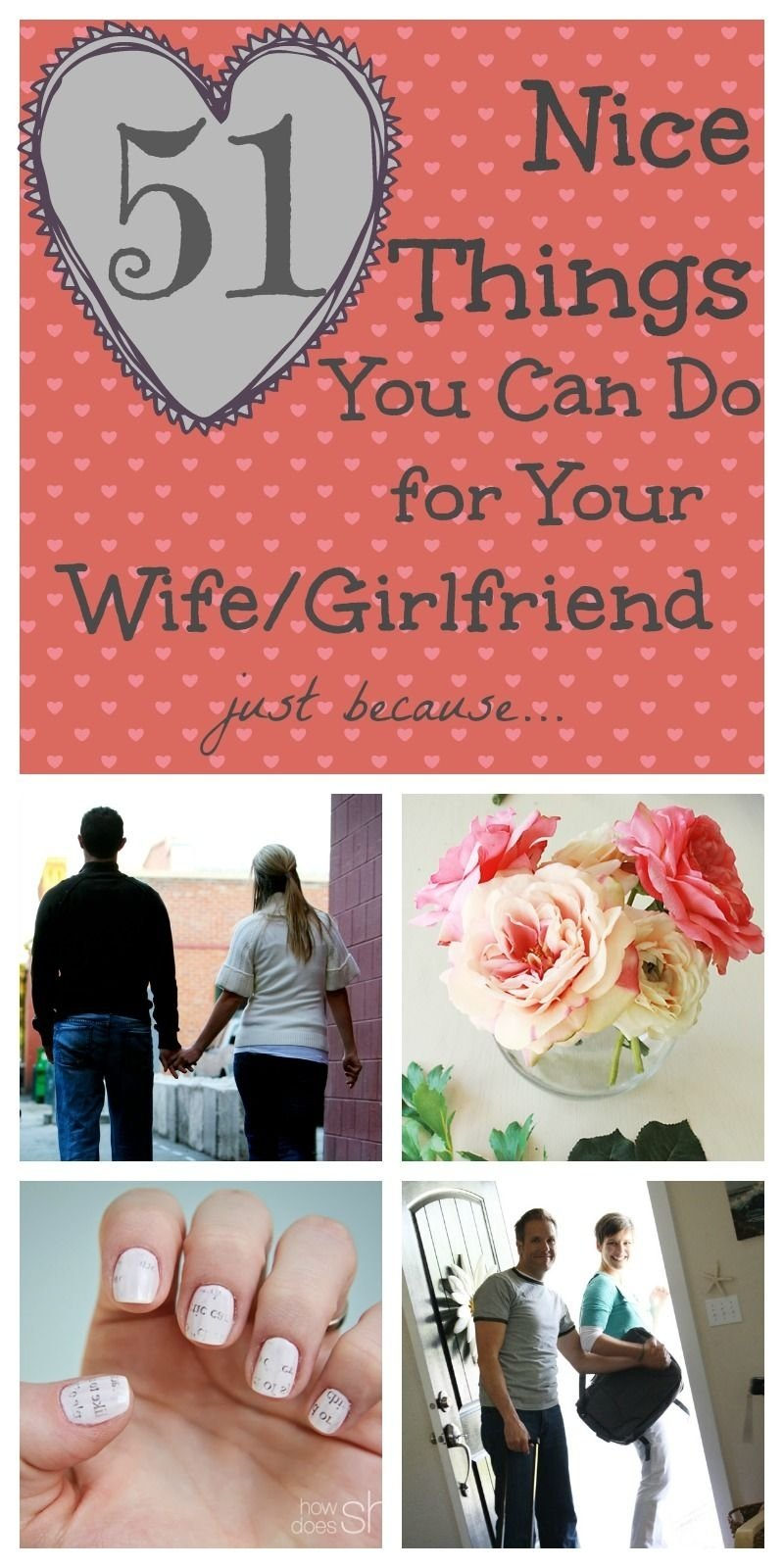 nice things to do for your wife - 50 ideas that will make her happy