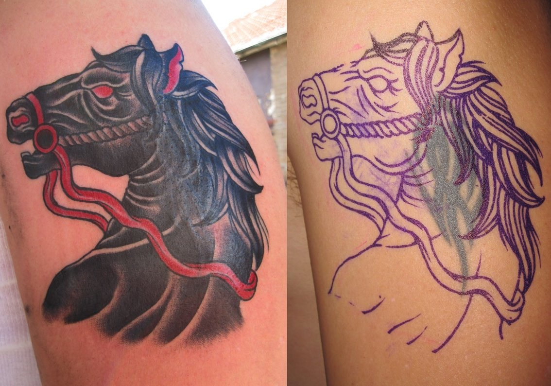 10 Unique Tattoo Ideas For Cover Up nightmare horse cover up tattoo design best tattoo ideas gallery 2 2020