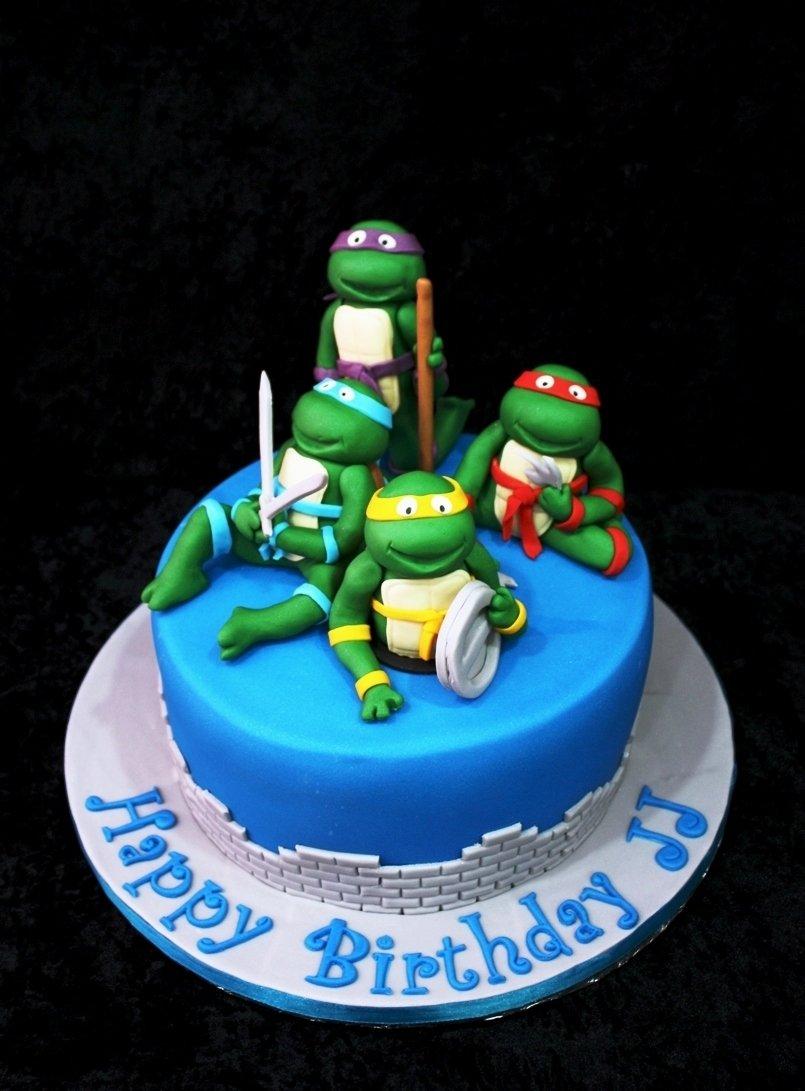 ninja turtle cakes – decoration ideas | little birthday cakes