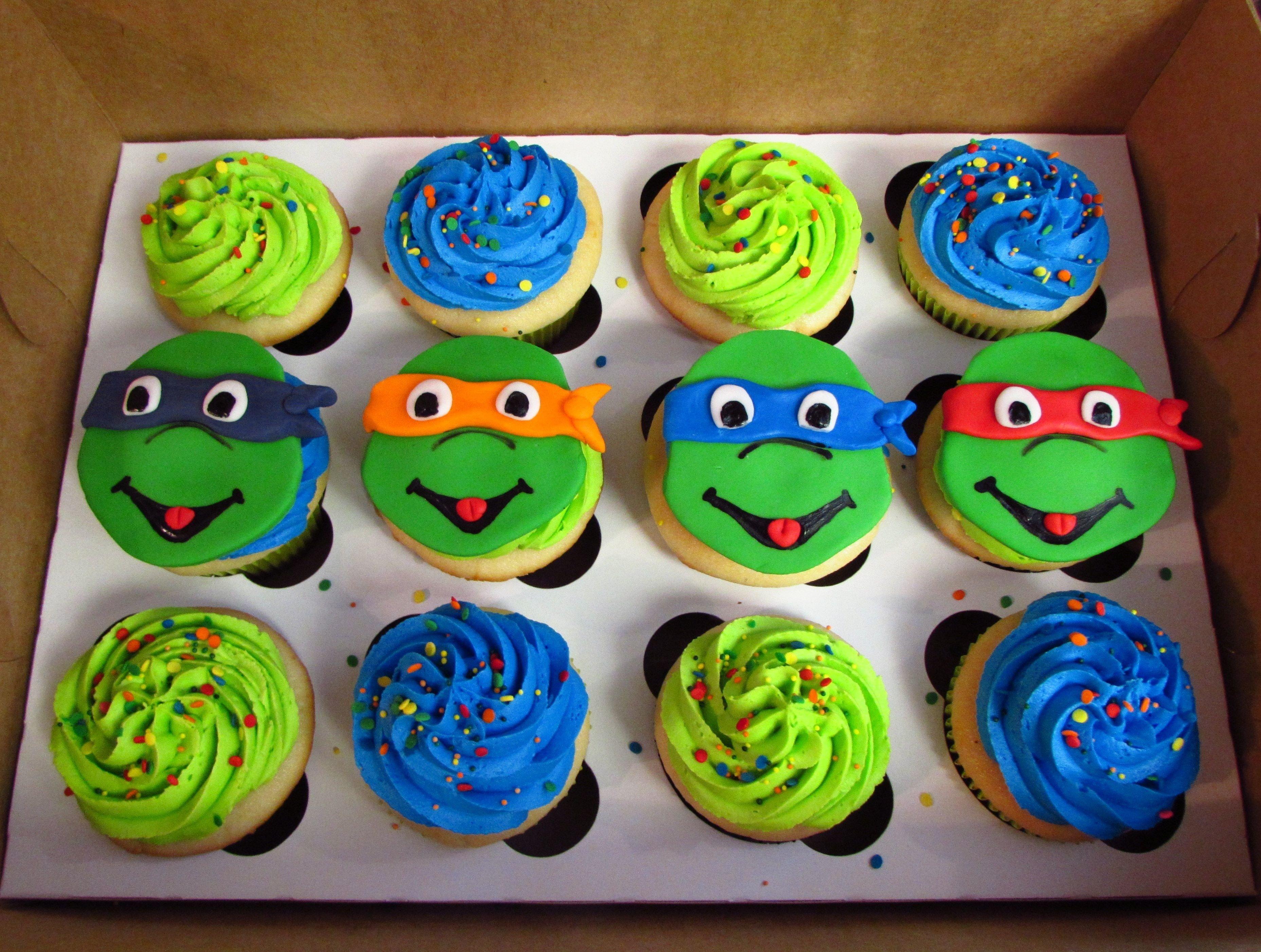 10 Attractive Teenage Mutant Ninja Turtles Cupcake Ideas ninja turtle cupcakes teenage mutant ninja turtles cupcake cake