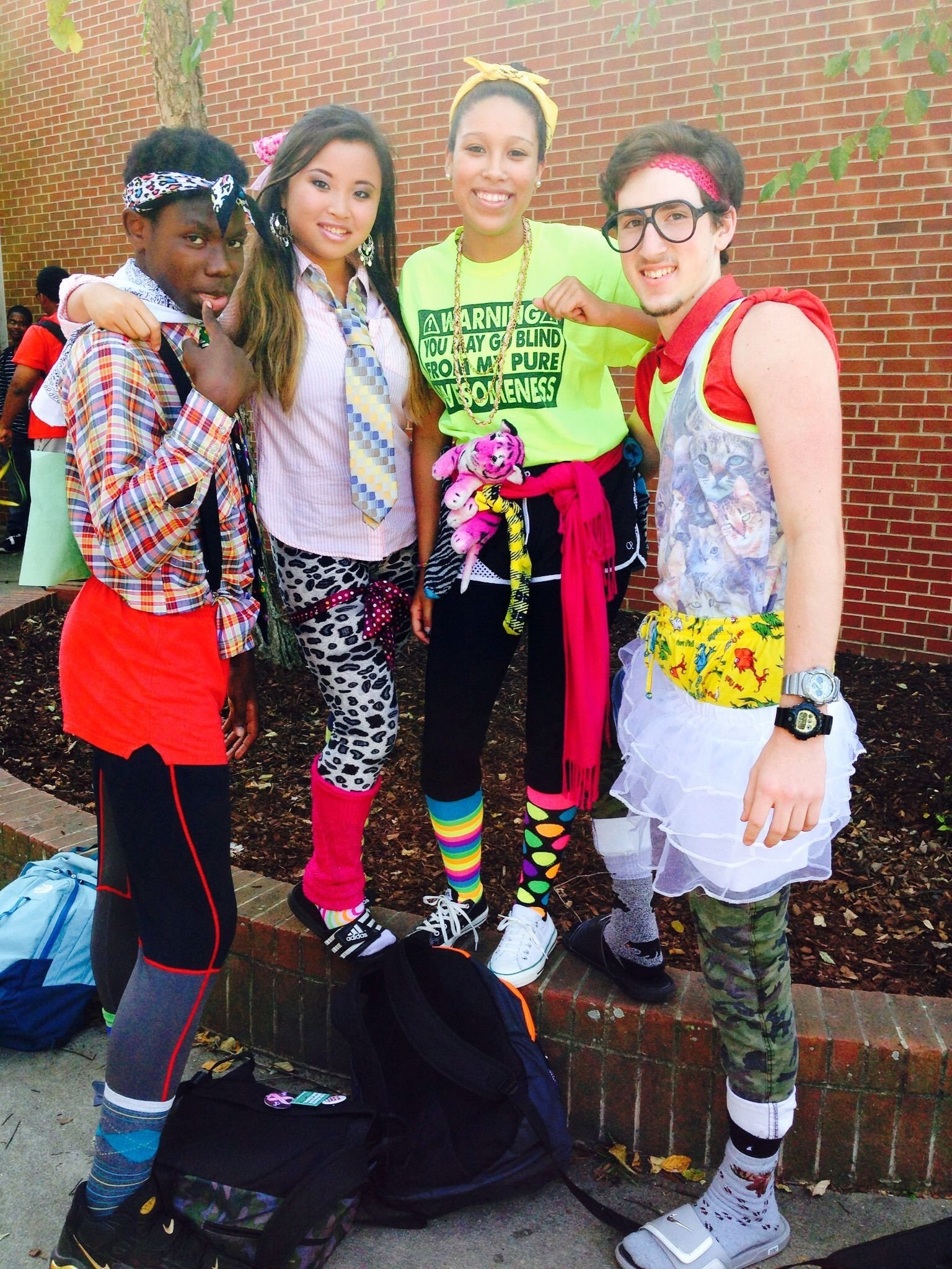 no body does wacky tacky day like garner! | garner #iamatrojan