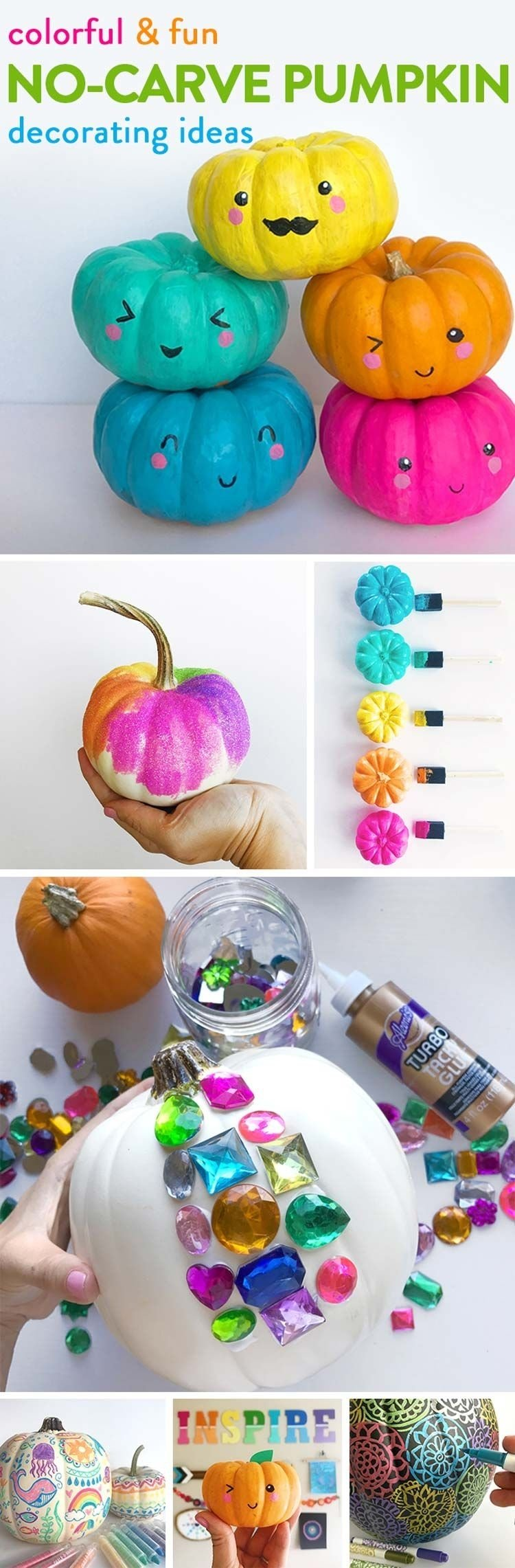 no-carve pumpkin decorating ideas | imagination, bright and canvases