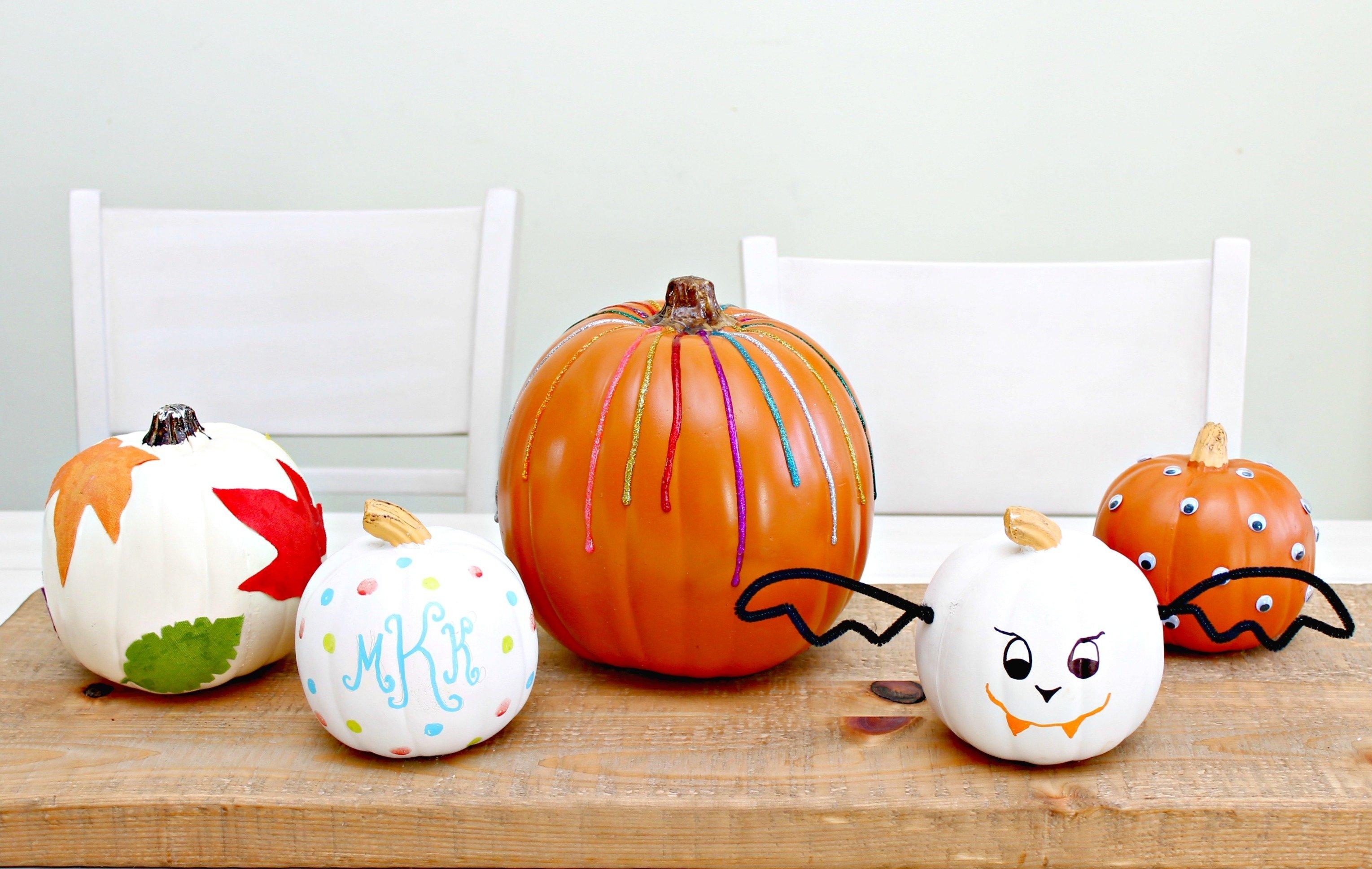 10 Beautiful Pumpkin Decorating Ideas No Carve no carve pumpkin decorating ideas mom 4 real 5 2020