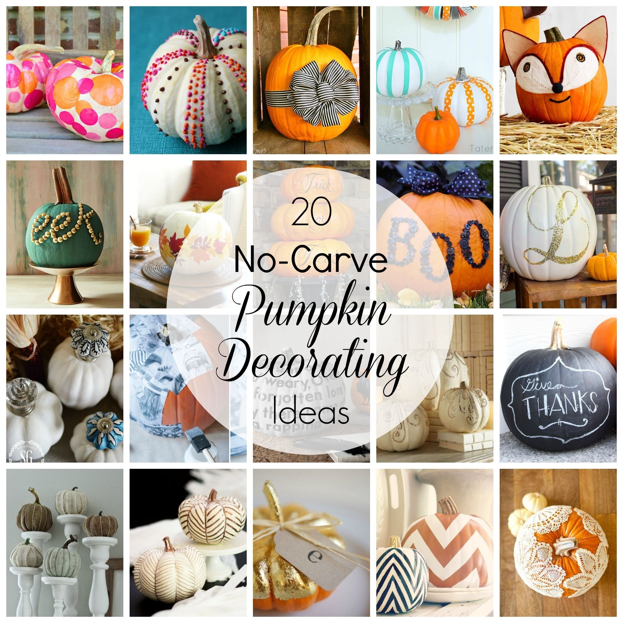 10 Famous No Carve Pumpkin Decorating Ideas no carve pumpkin decorating ideas pumpkin images holidays and