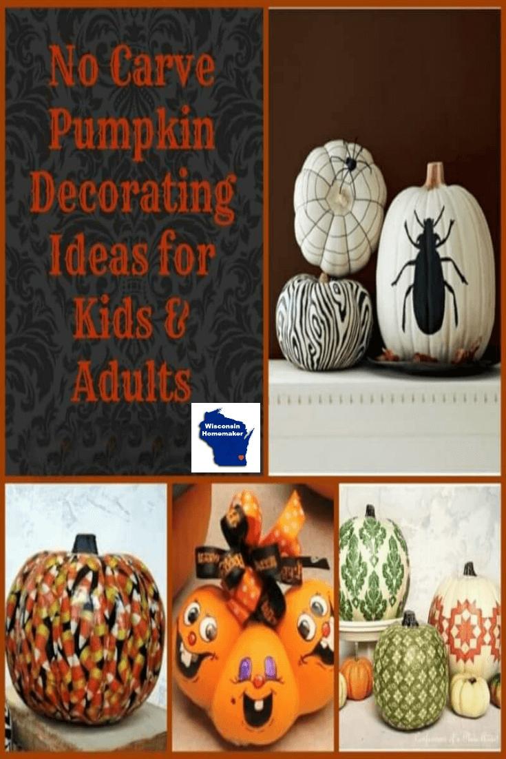 10 Stunning No Carve Pumpkin Decorating Ideas For Kids no carve pumpkin decorating ideas wisconsin homemaker 2020