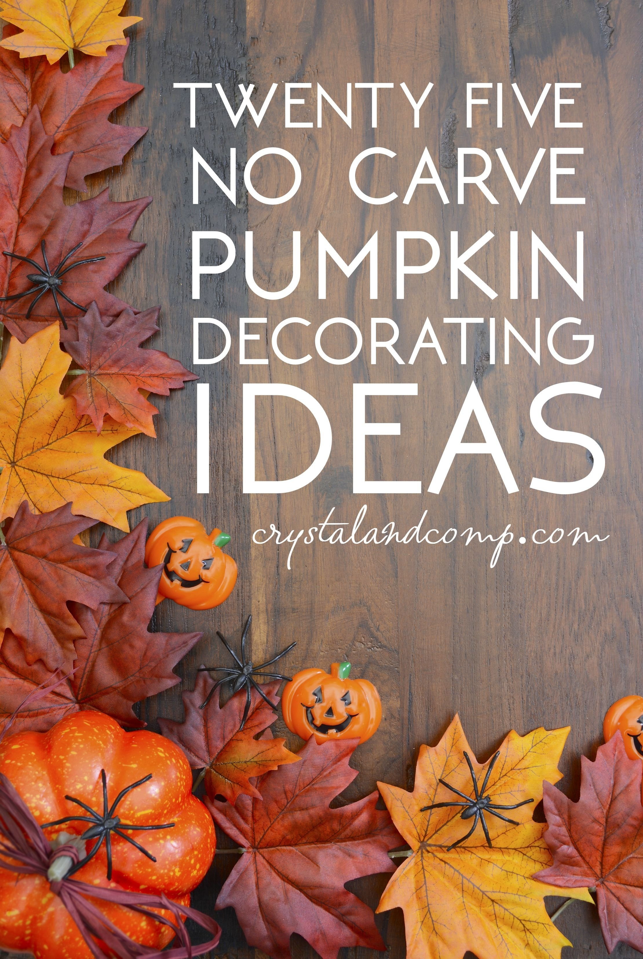 10 Famous No Carve Pumpkin Decorating Ideas no carve pumpkin decorating