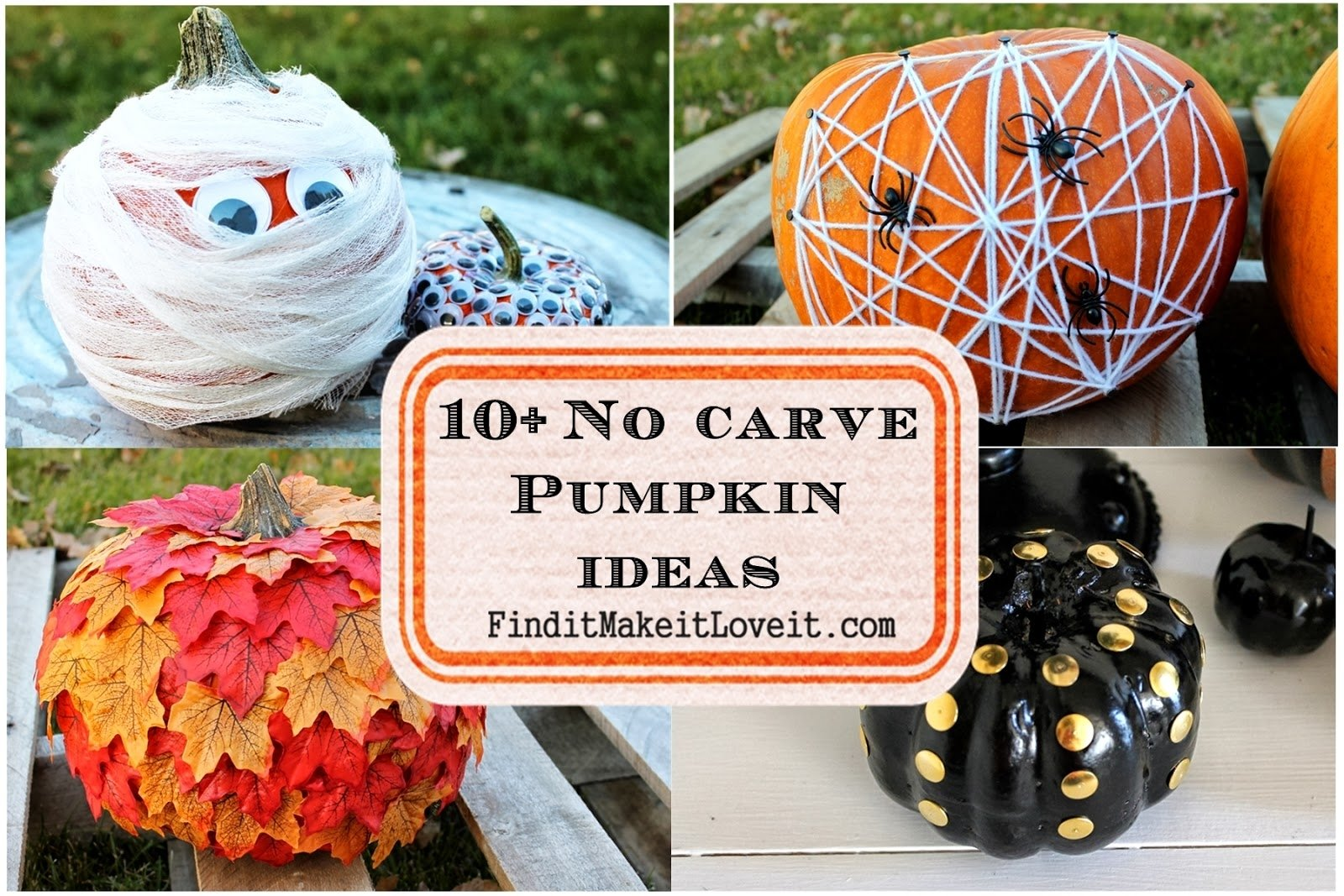 10 Famous No Carve Pumpkin Decorating Ideas no carve pumpkin ideas find it make it love it