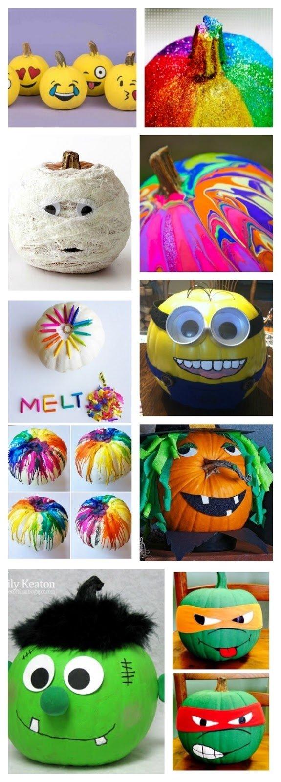 10 Stunning No Carve Pumpkin Decorating Ideas For Kids no carve pumpkins for kids growing a jeweled rose 3 2020