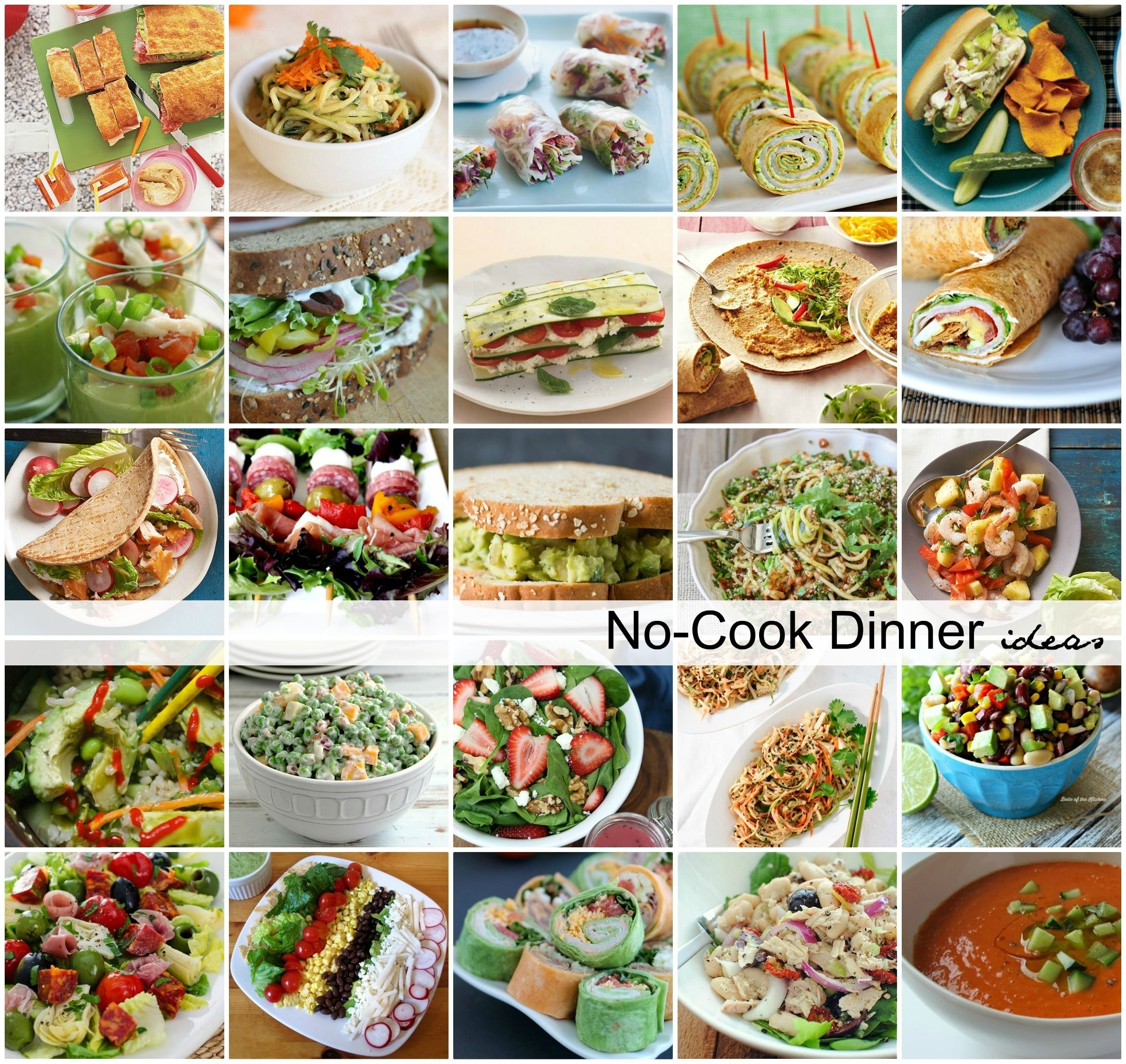 10 Ideal Ideas To Cook For Dinner no cook dinner ideas 2021