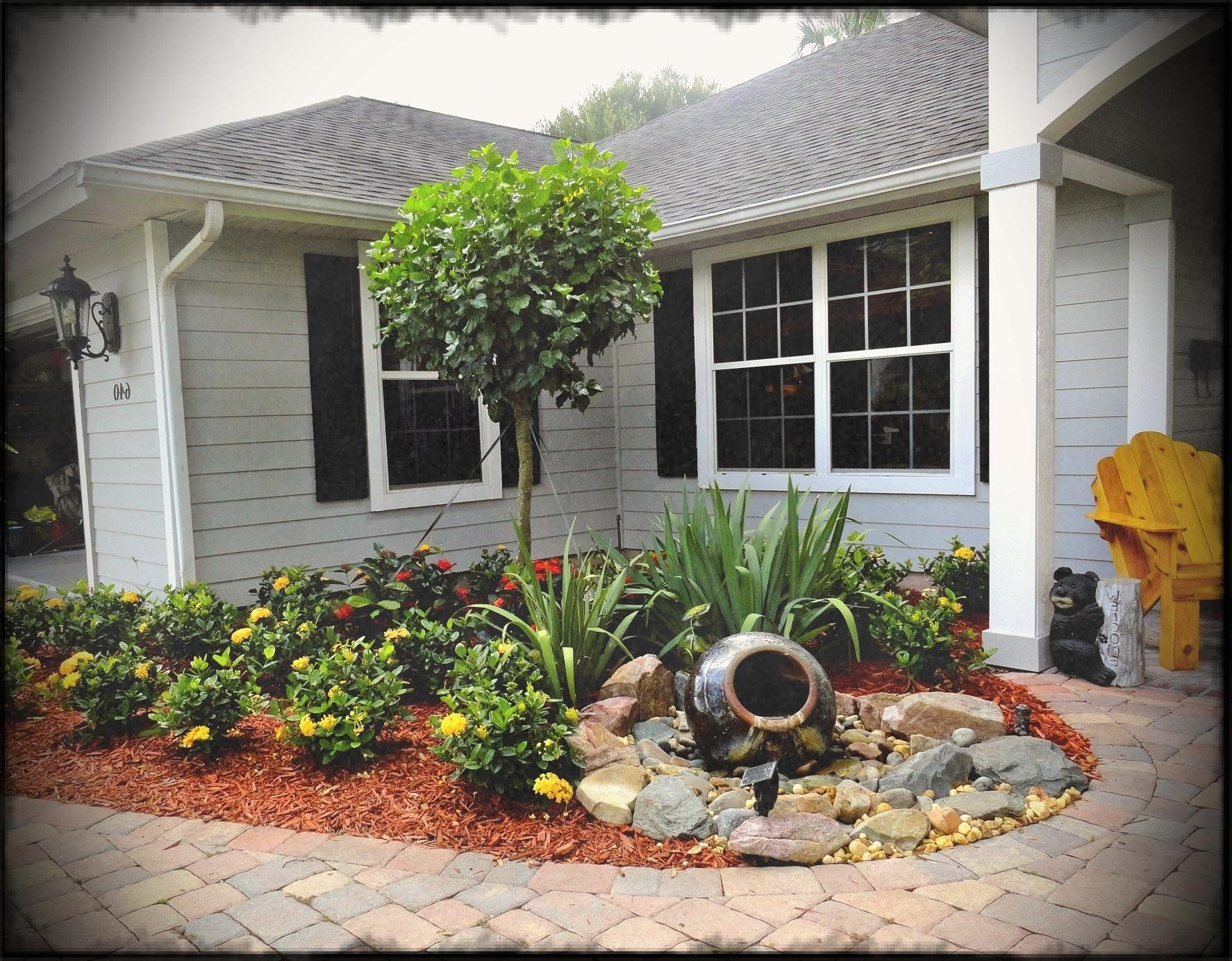 10 Most Recommended Landscaping Ideas For Mobile Homes no grass landscape ideas for front yard landscaping with water 2020