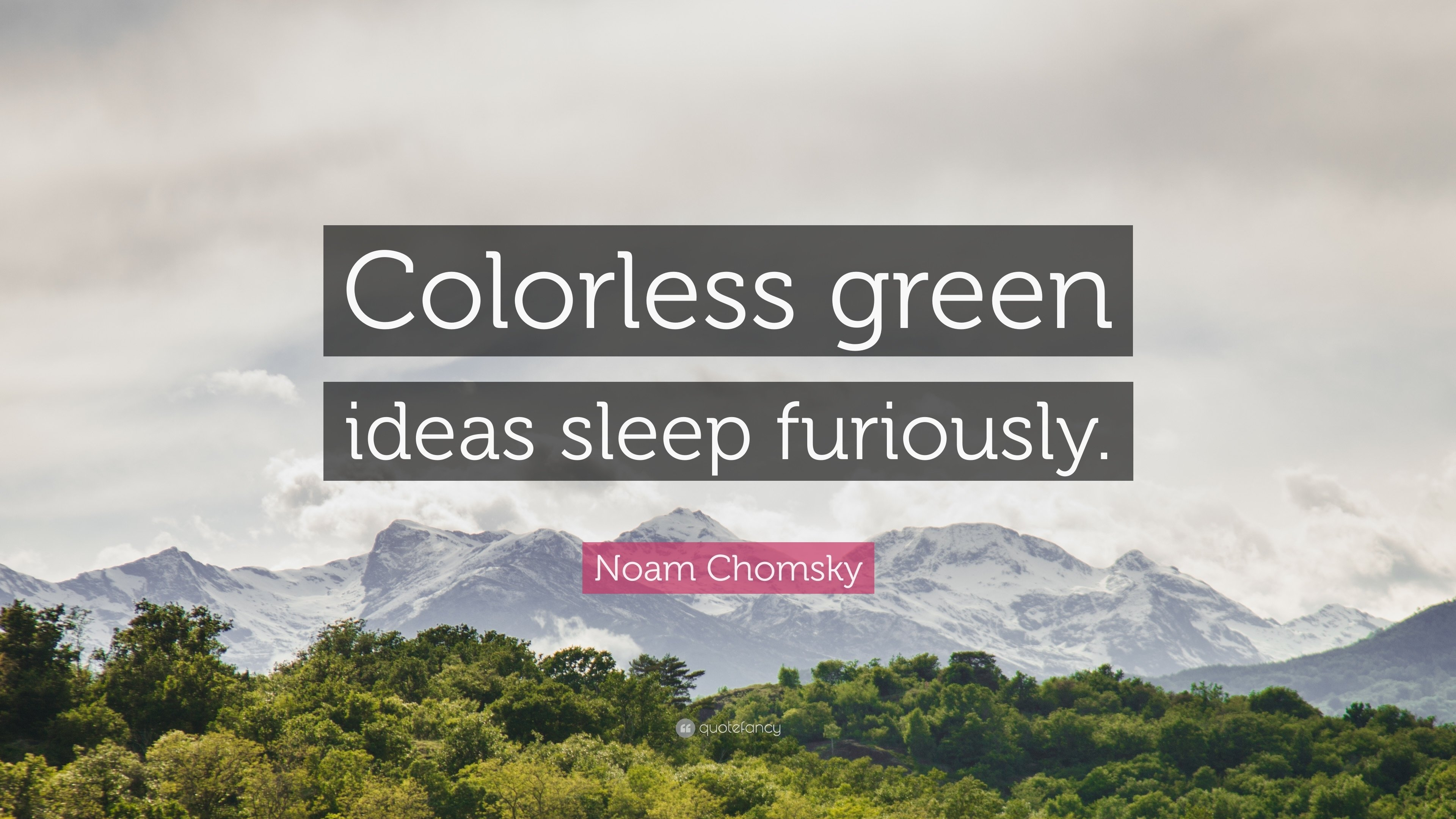 "noam chomsky quote: ""colorless green ideas sleep furiously."" (12"