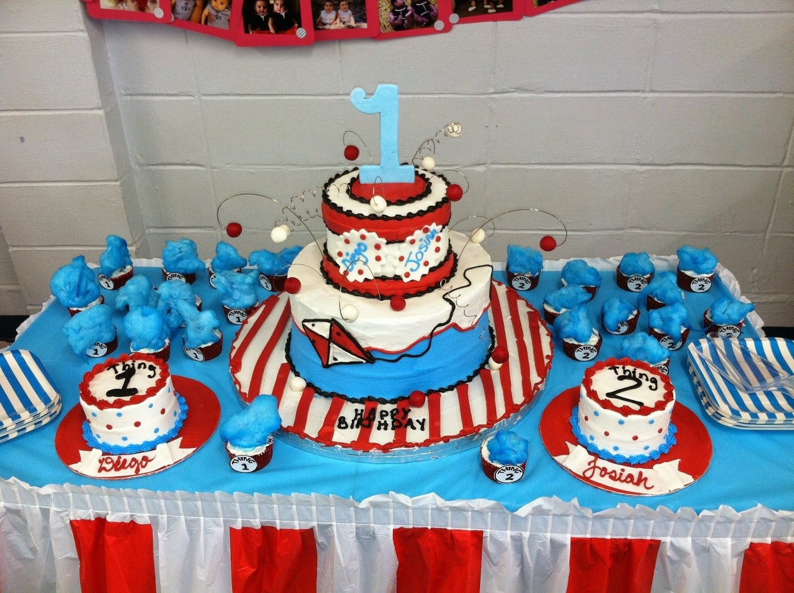 10 Awesome Thing 1 And Thing 2 Cake Ideas nola parties and playdates thing one and thing two party 2020