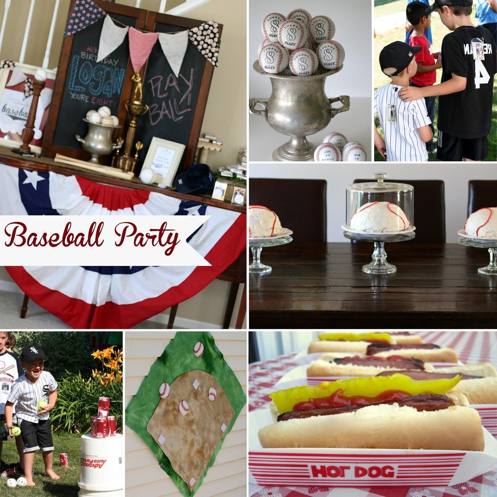 10 Stylish 7 Yr Old Boy Birthday Party Ideas notable nest baseball birthday party 4 2021
