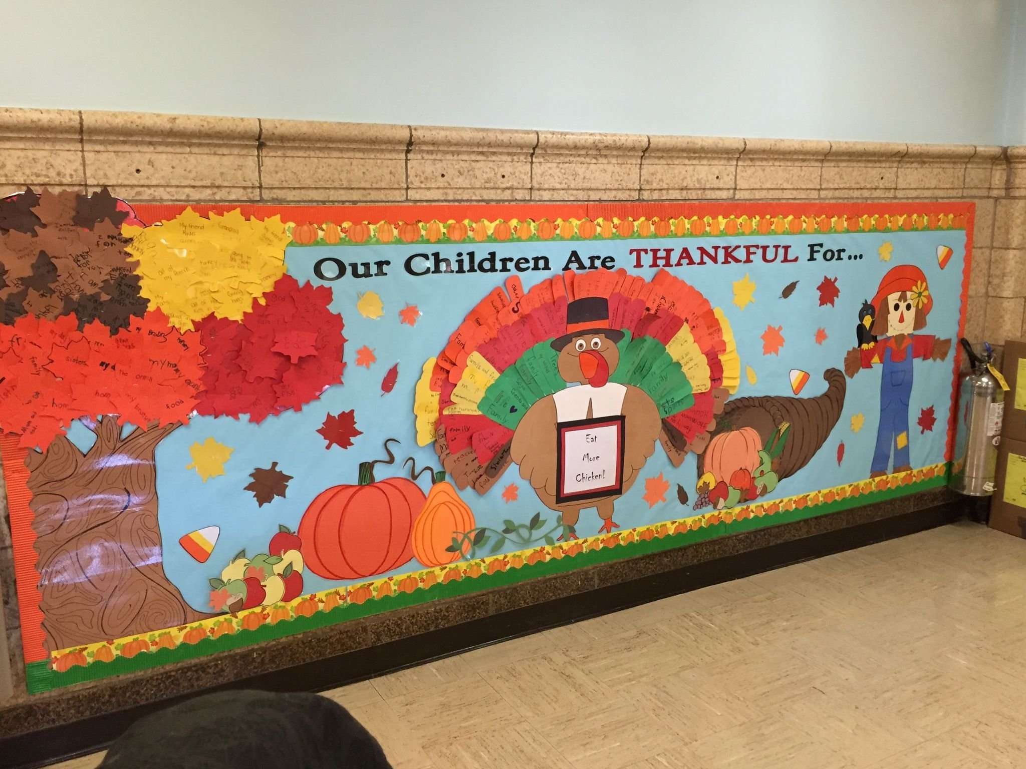 november 2015 thanksgiving bulletin board. | elementary school