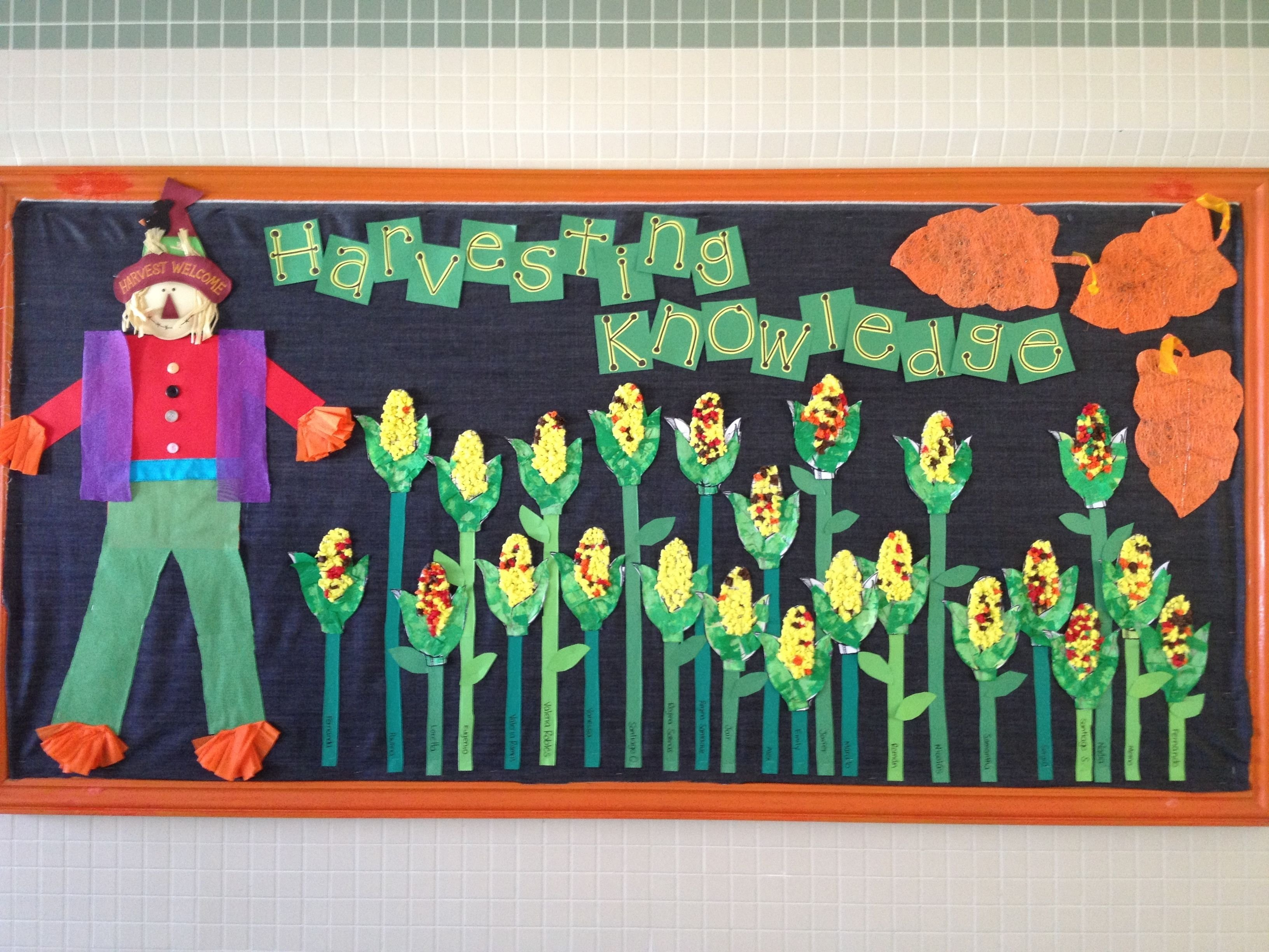 10 Famous Bulletin Board Ideas For November november bulletin board corn filled with crepe paper balls awesome 2021