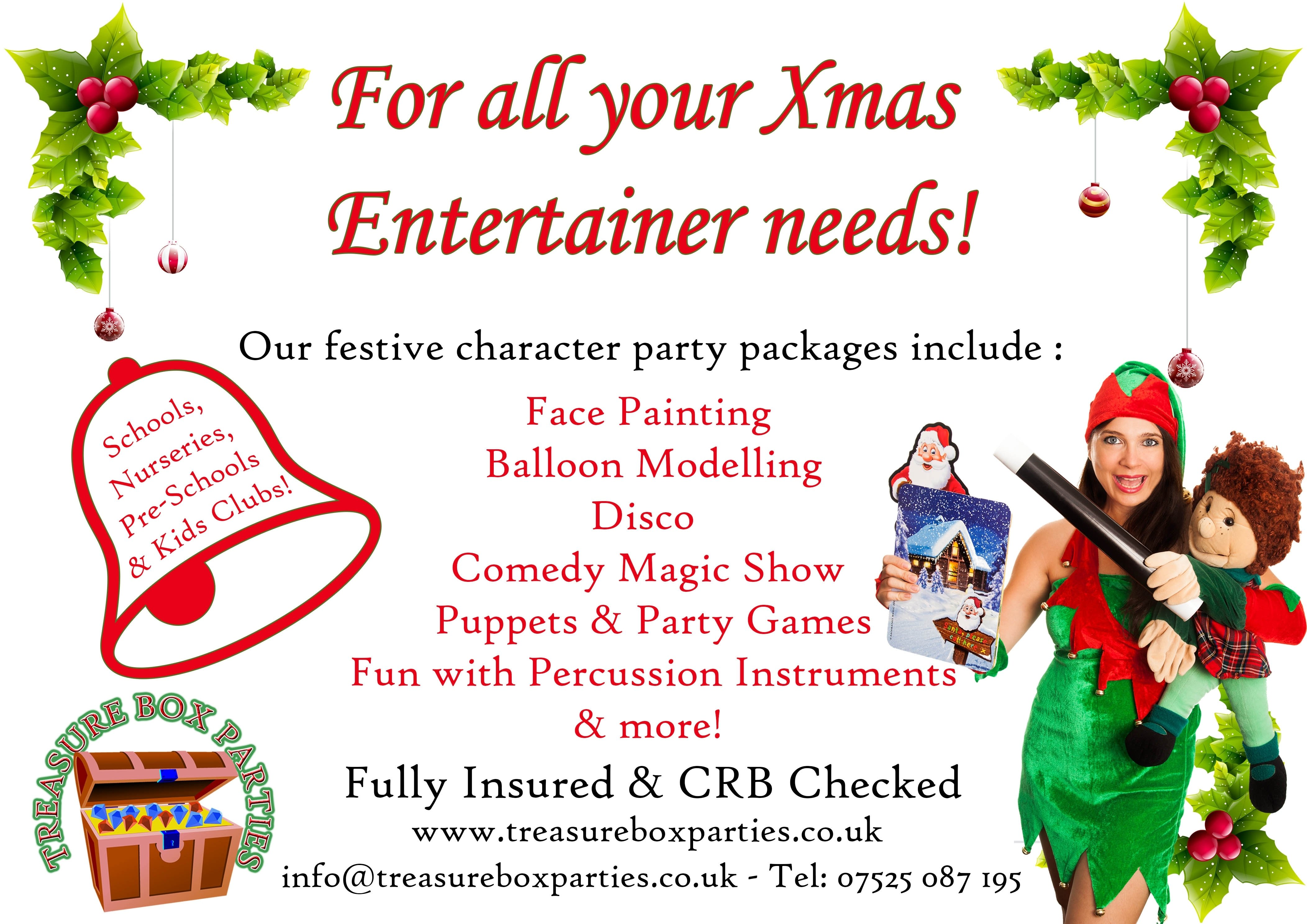 nursery christmas party entertainment - childrens entertainer