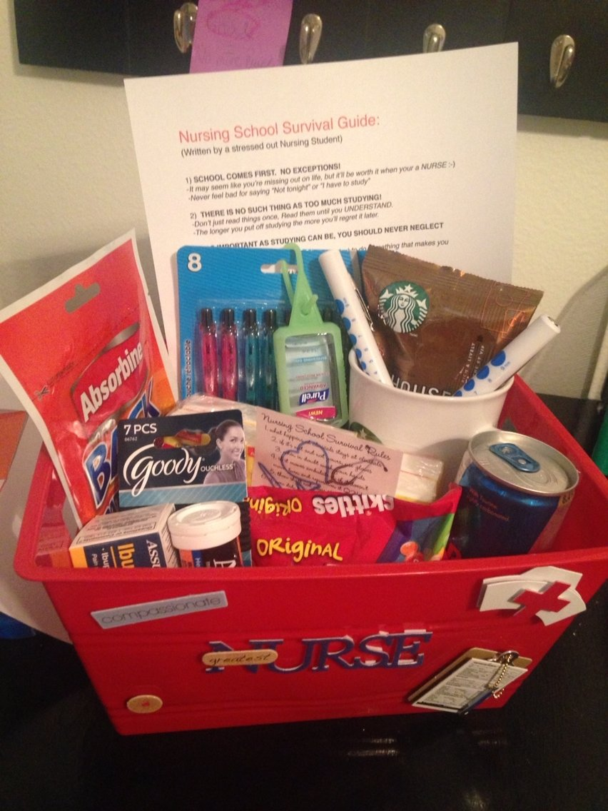 10 Unique Nursing School Graduation Gift Ideas nursing school survival kit i made for my roommate diy presents 2020